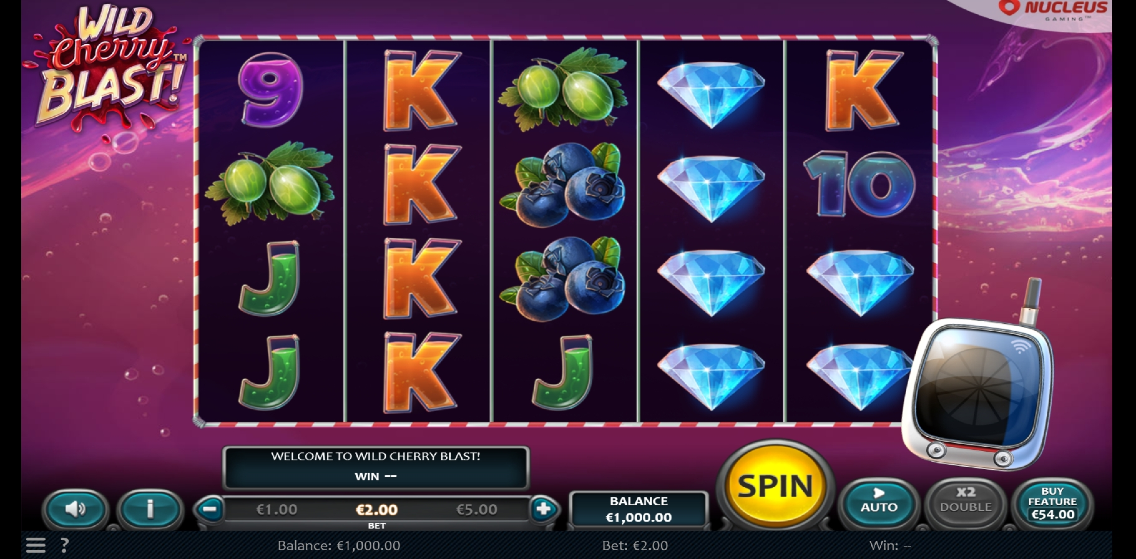 Reels in Wild Cherry Blast Slot Game by Nucleus Gaming