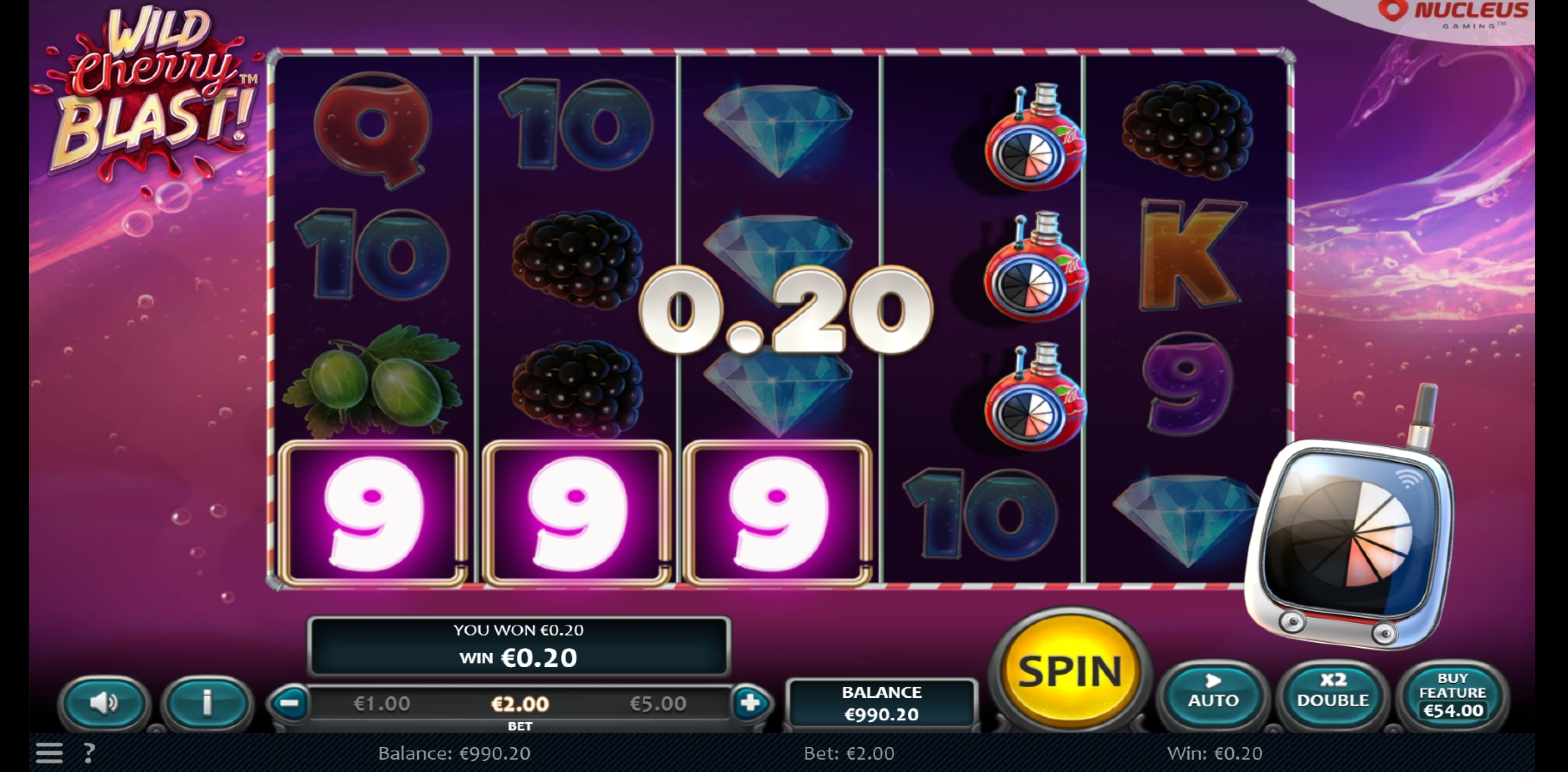 Win Money in Wild Cherry Blast Free Slot Game by Nucleus Gaming