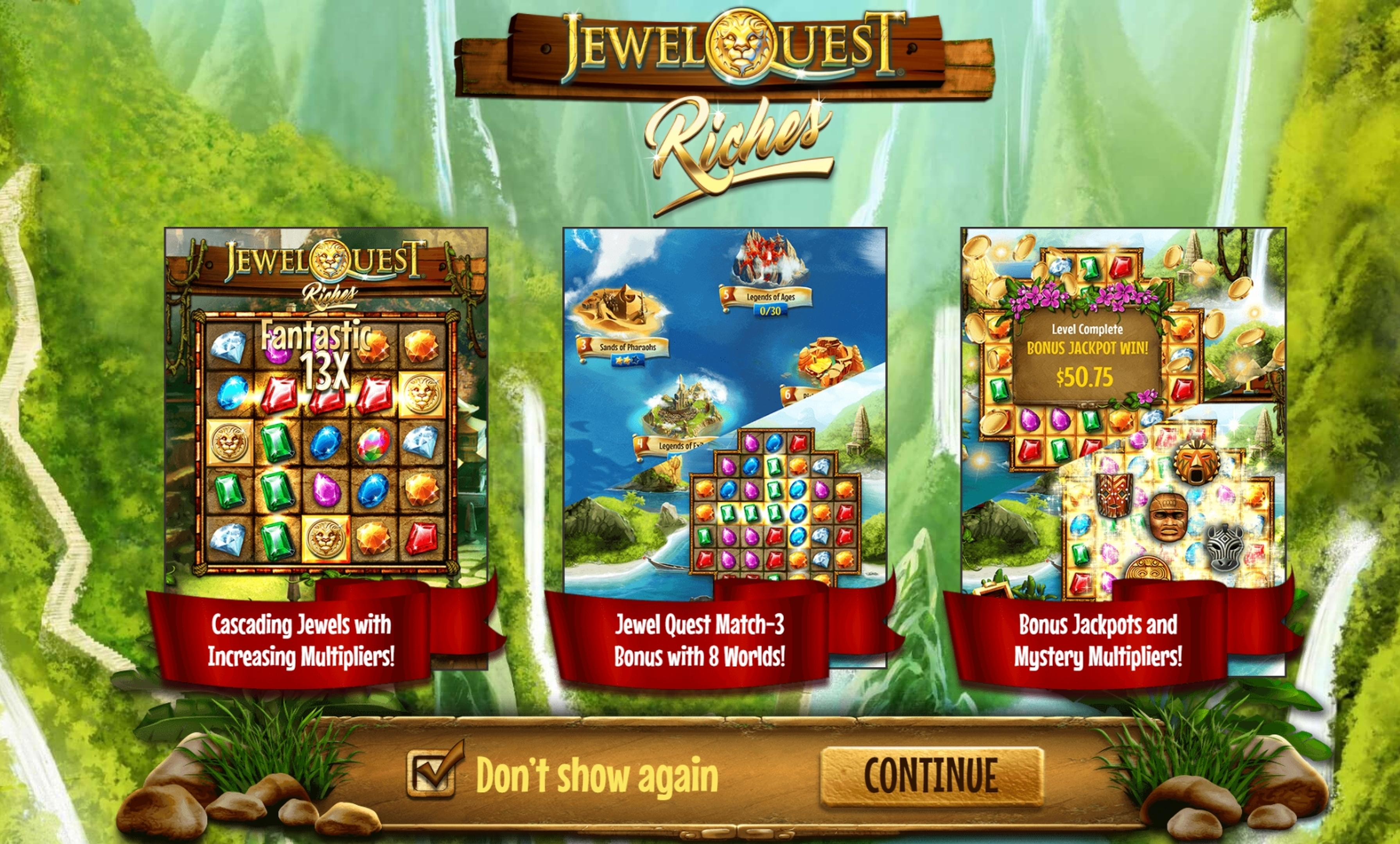 Play Jewel Quest Riches Free Casino Slot Game by Old Skool Studios