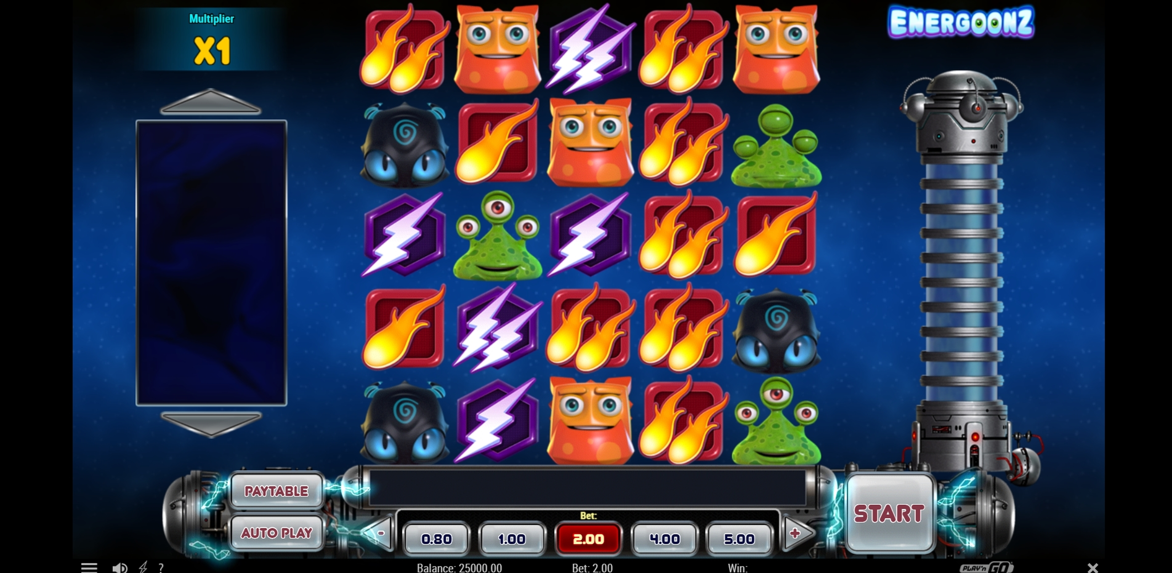 Reels in Energoonz Slot Game by Play'n Go
