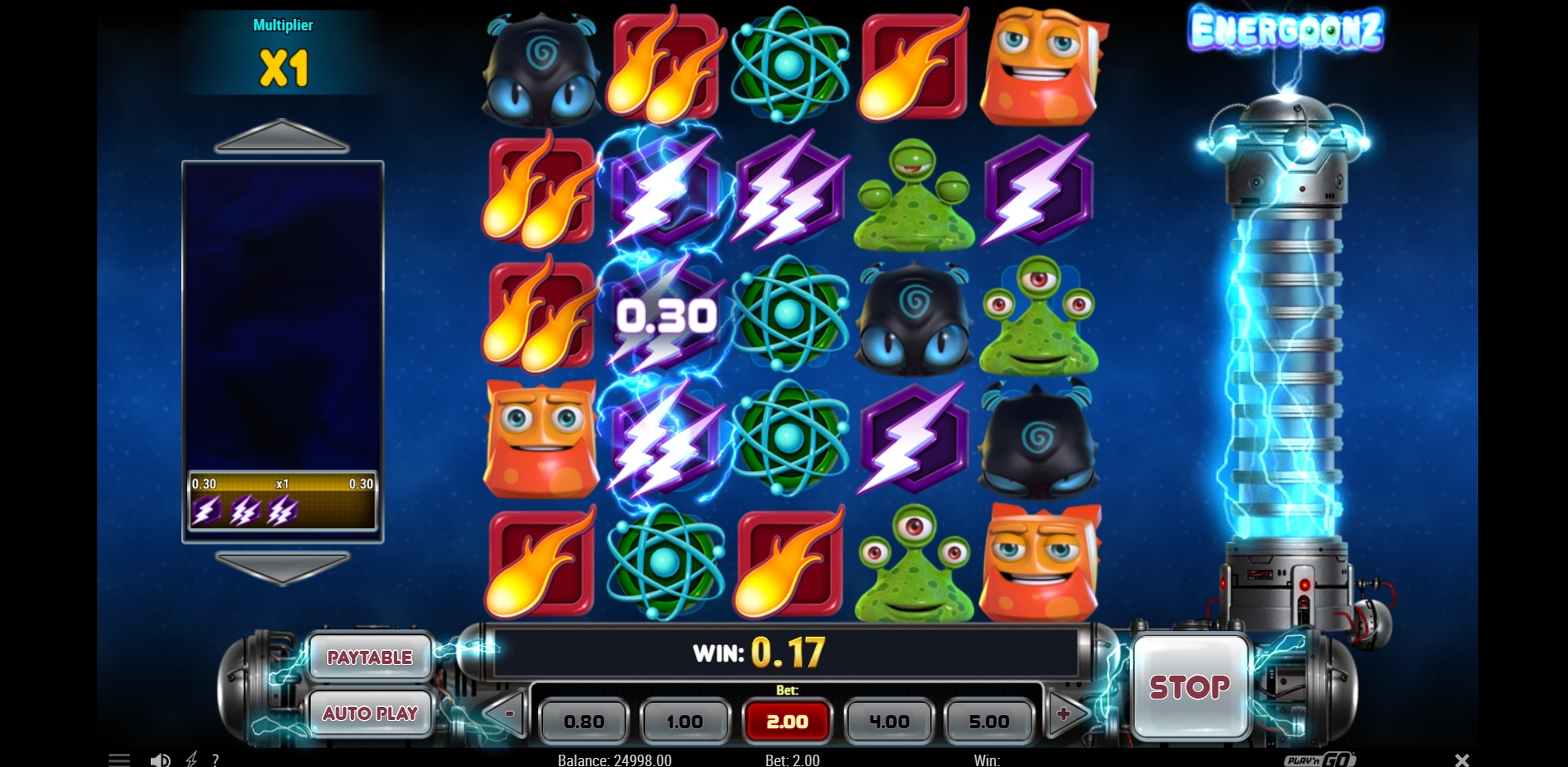Win Money in Energoonz Free Slot Game by Play'n Go
