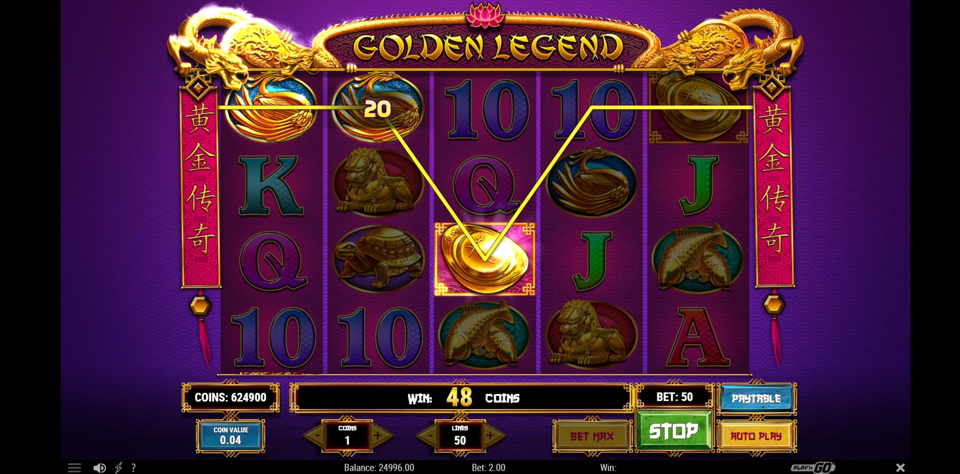 Win Money in Golden Legend Free Slot Game by Play'n Go