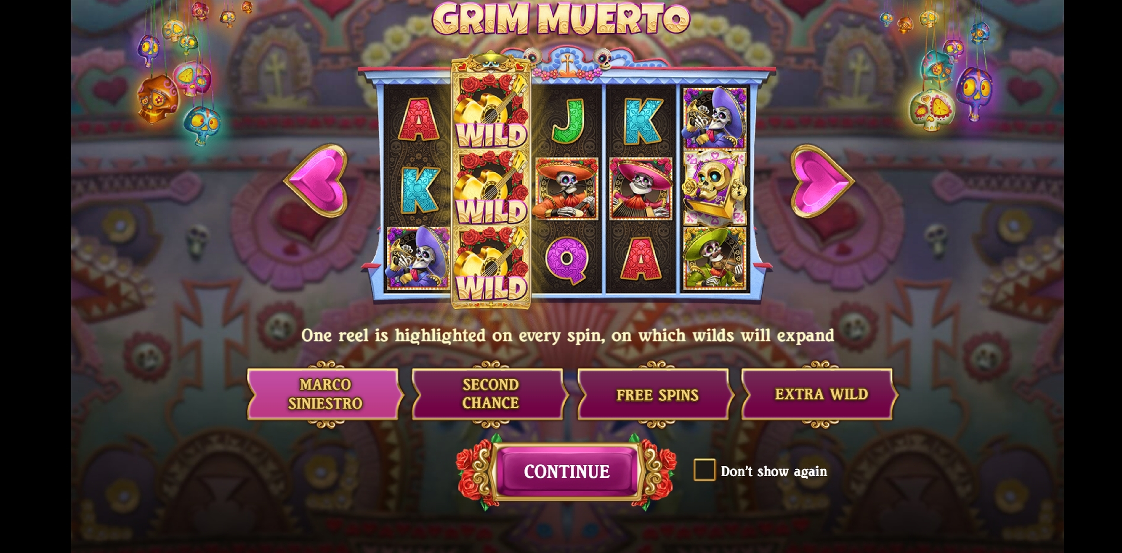 Play Grim Muerto Free Casino Slot Game by Playn GO