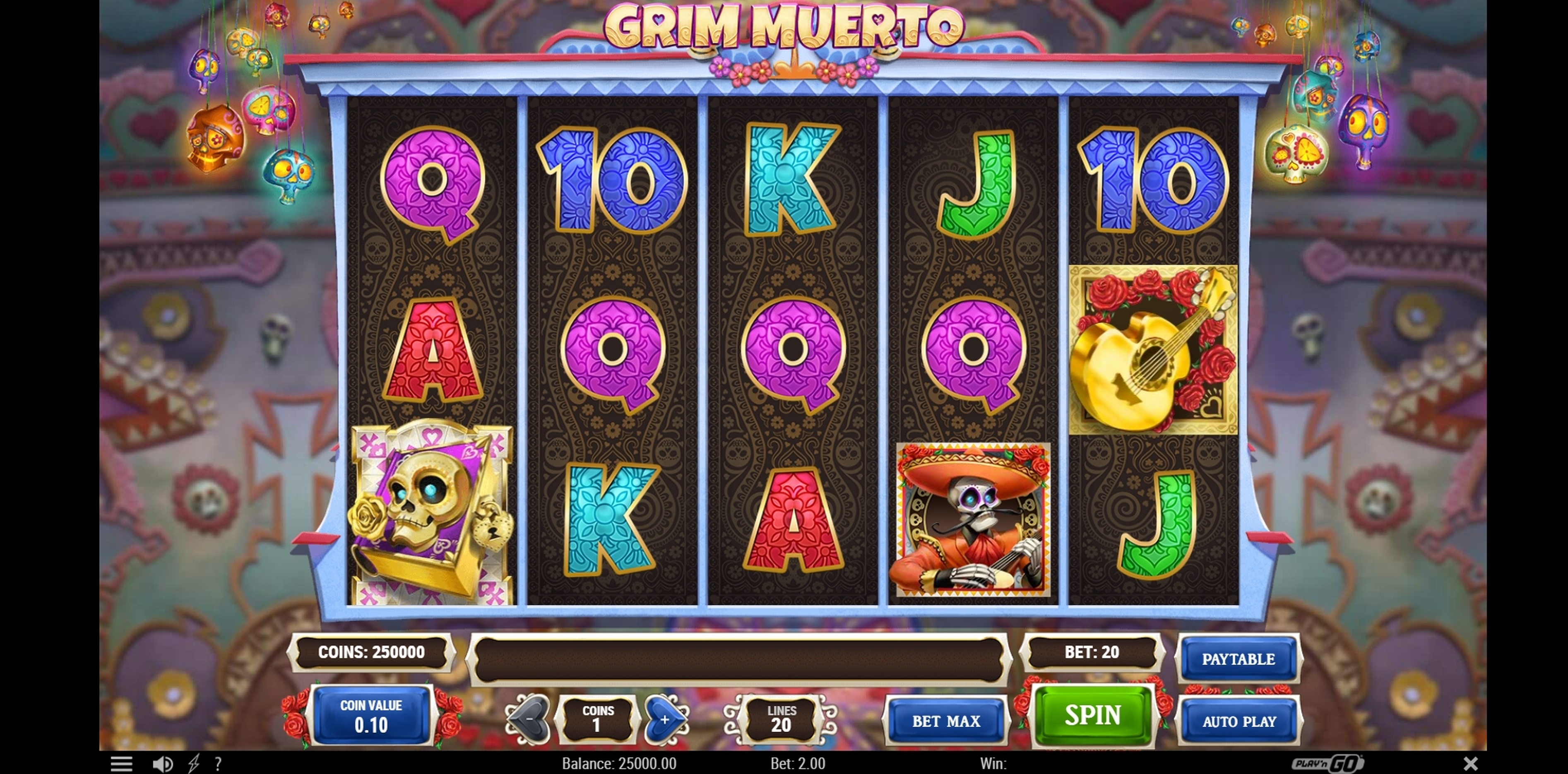 Reels in Grim Muerto Slot Game by Playn GO