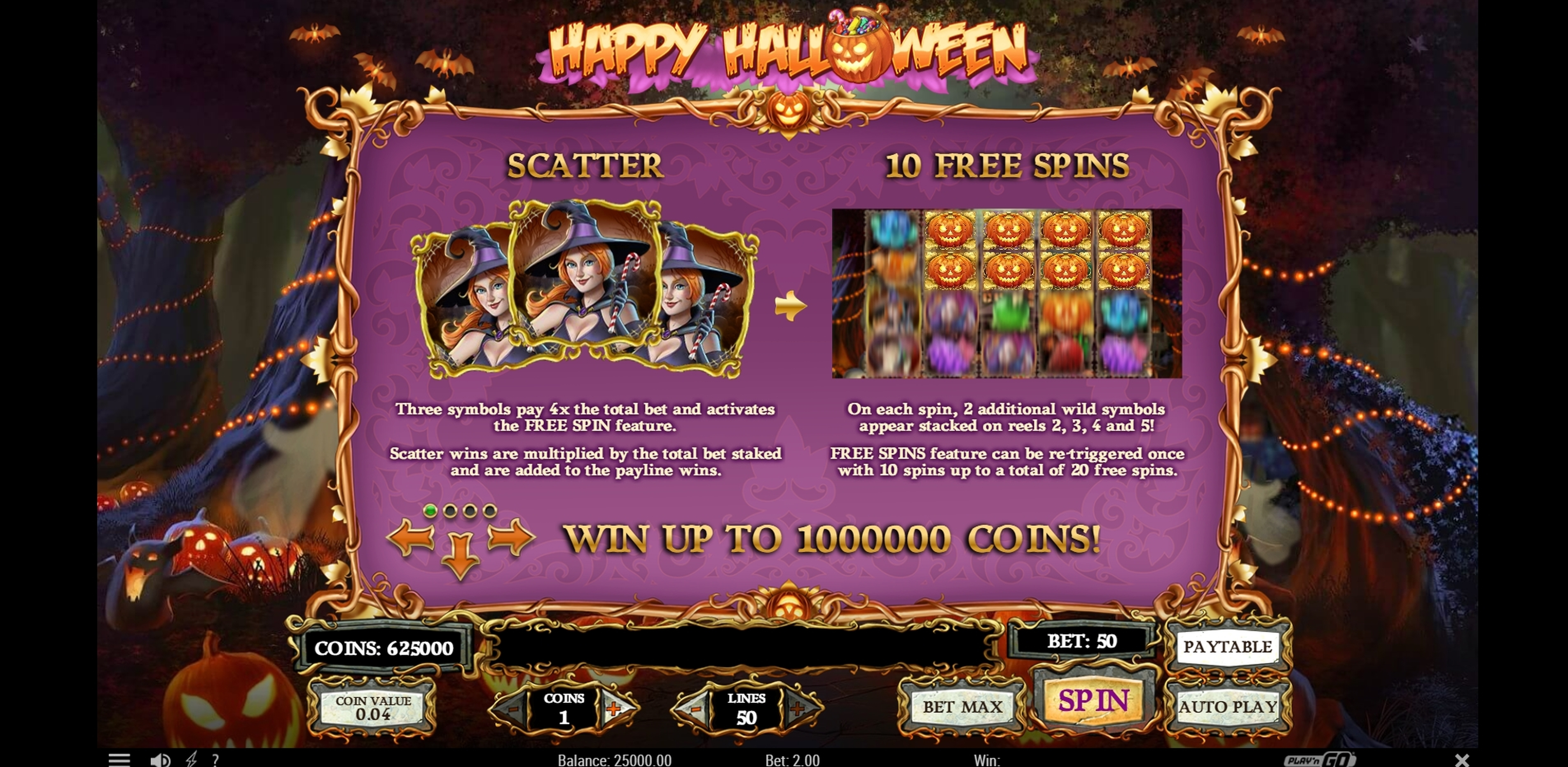 Info of Happy Halloween Slot Game by Play'n Go
