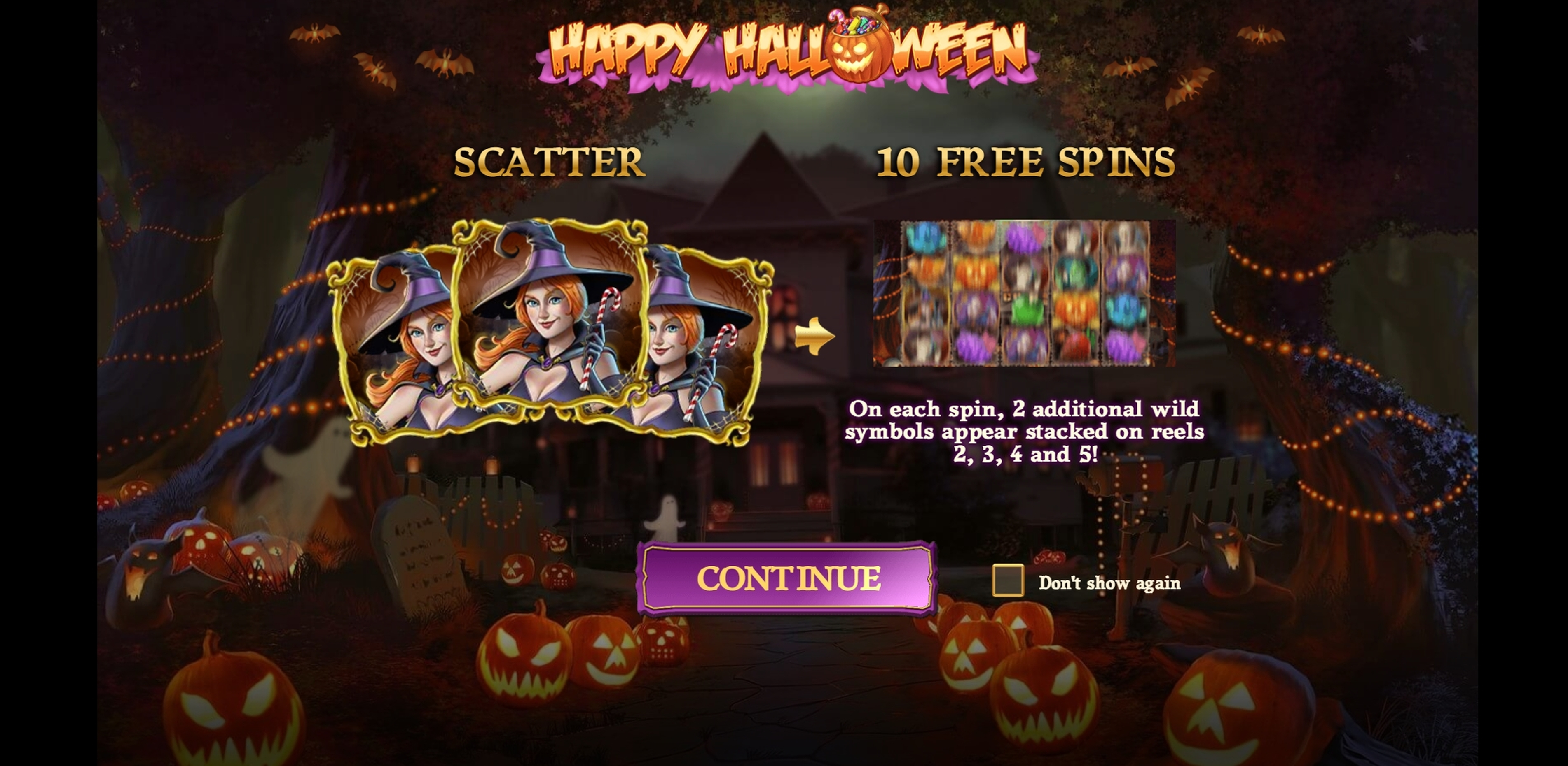 Play Happy Halloween Free Casino Slot Game by Play'n Go