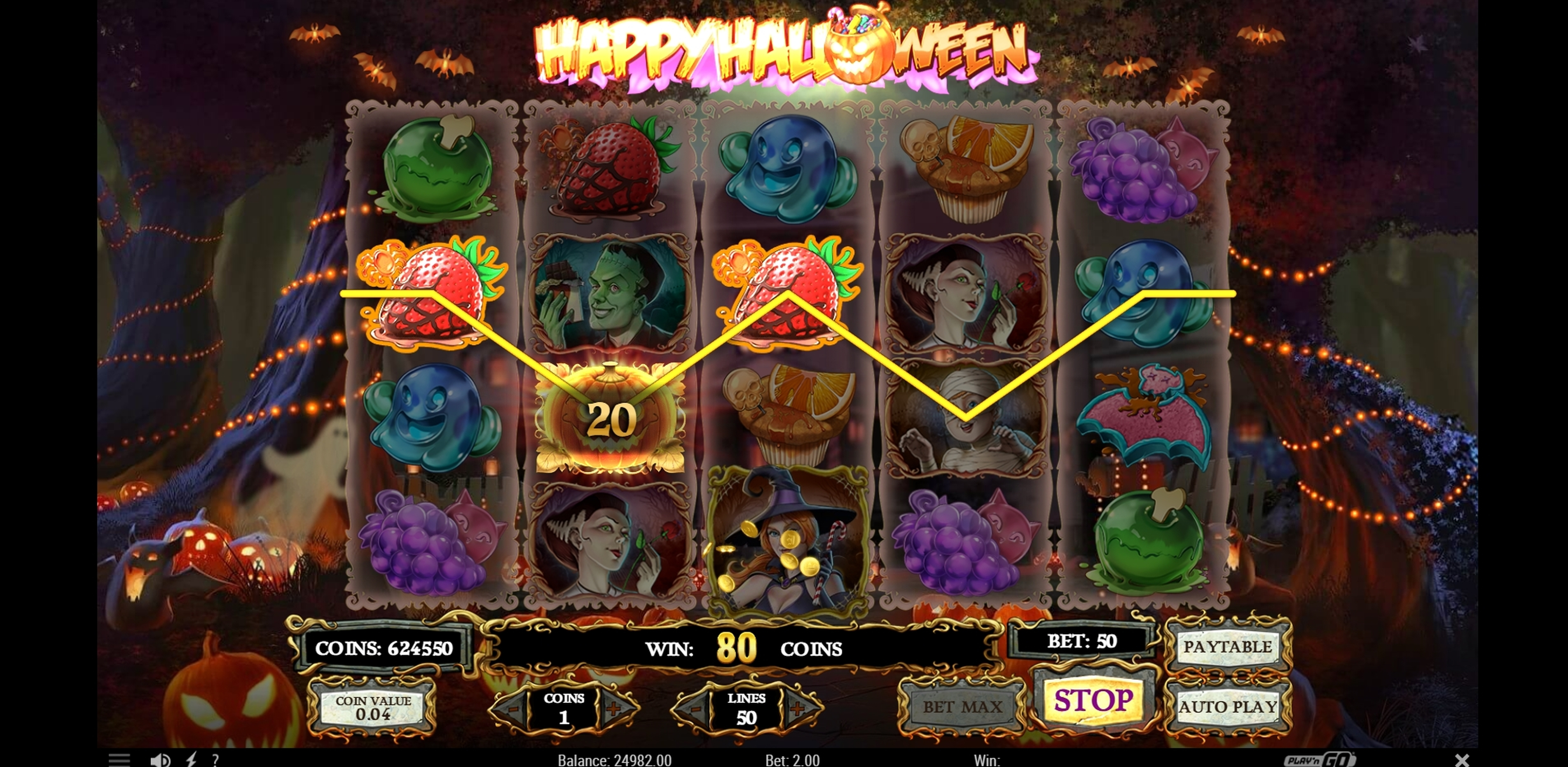Win Money in Happy Halloween Free Slot Game by Play'n Go