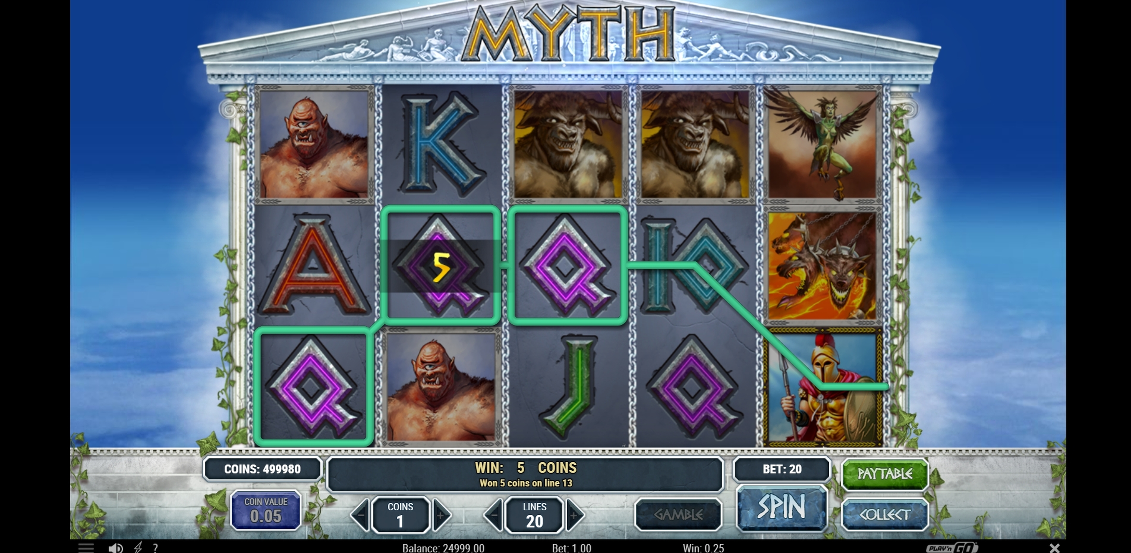 Win Money in Myth Free Slot Game by Play'n Go
