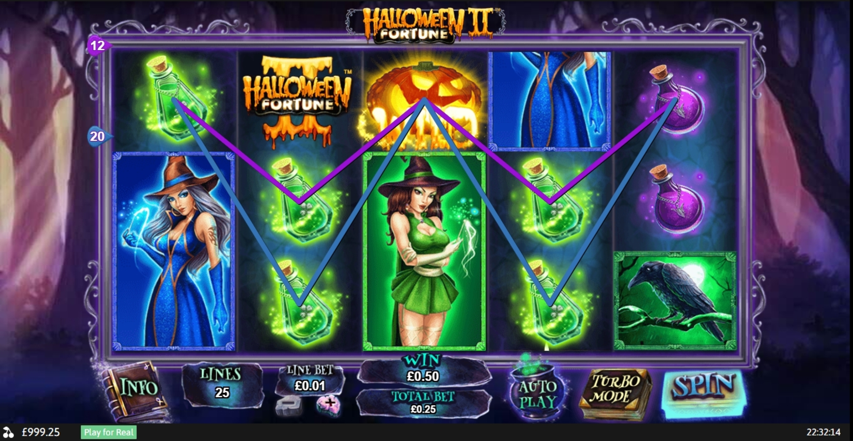 Win Money in Halloween Fortune II Free Slot Game by Playtech