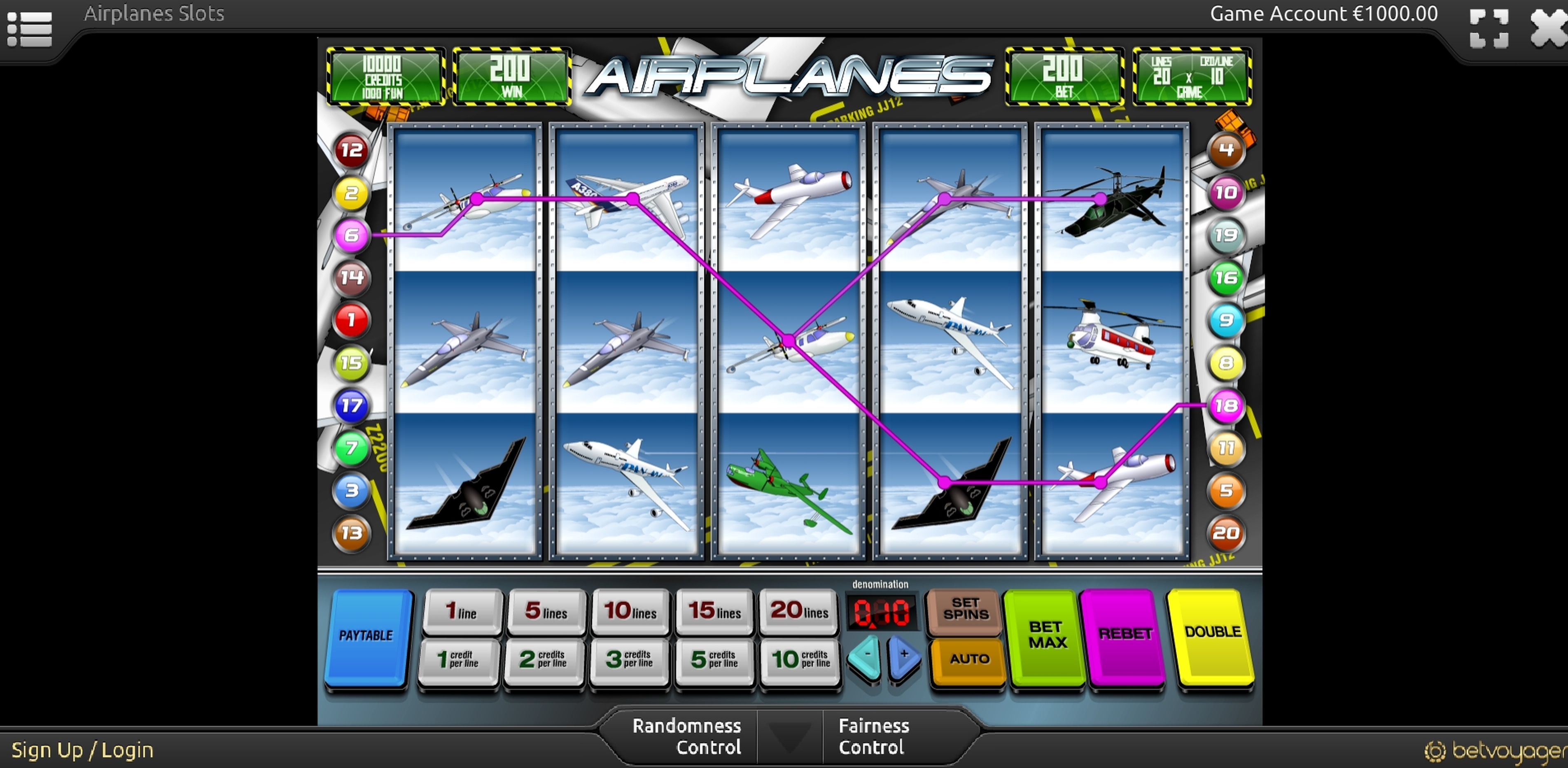 Win Money in Airplanes Free Slot Game by Portomaso Gaming