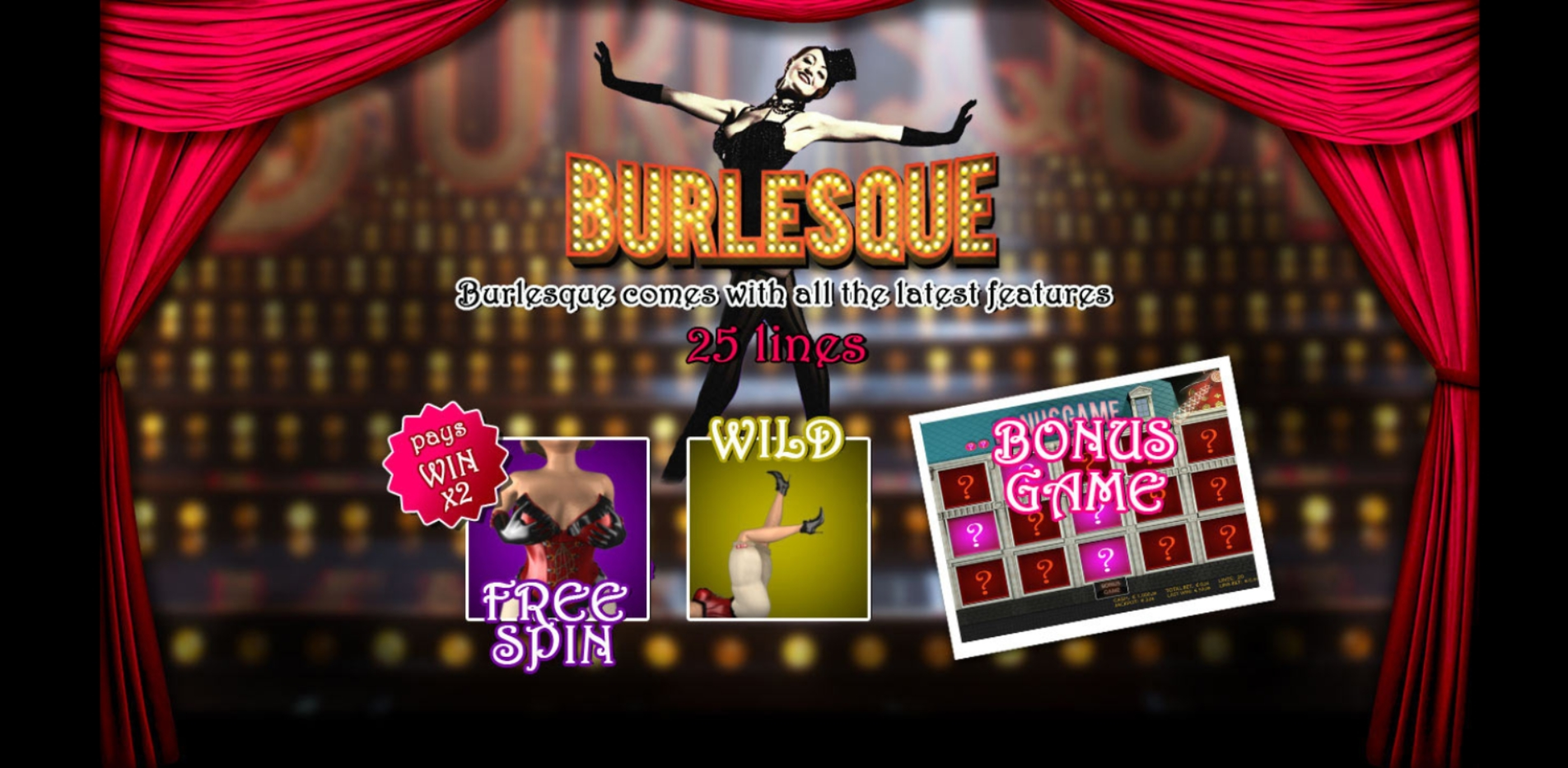 Play Burlesque Free Casino Slot Game by Portomaso Gaming