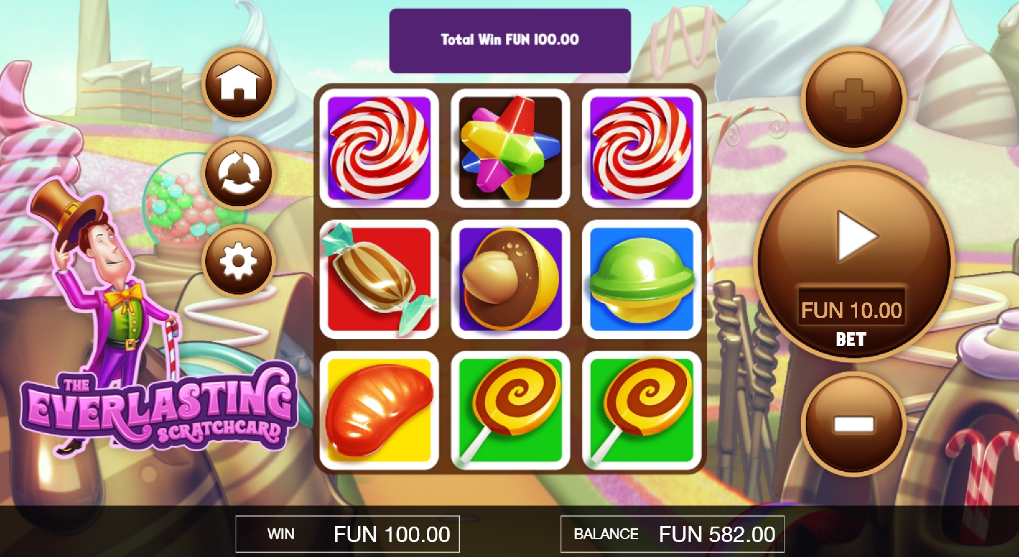 Win Money in The Everlasting Scratchcard Free Slot Game by Probability Jones