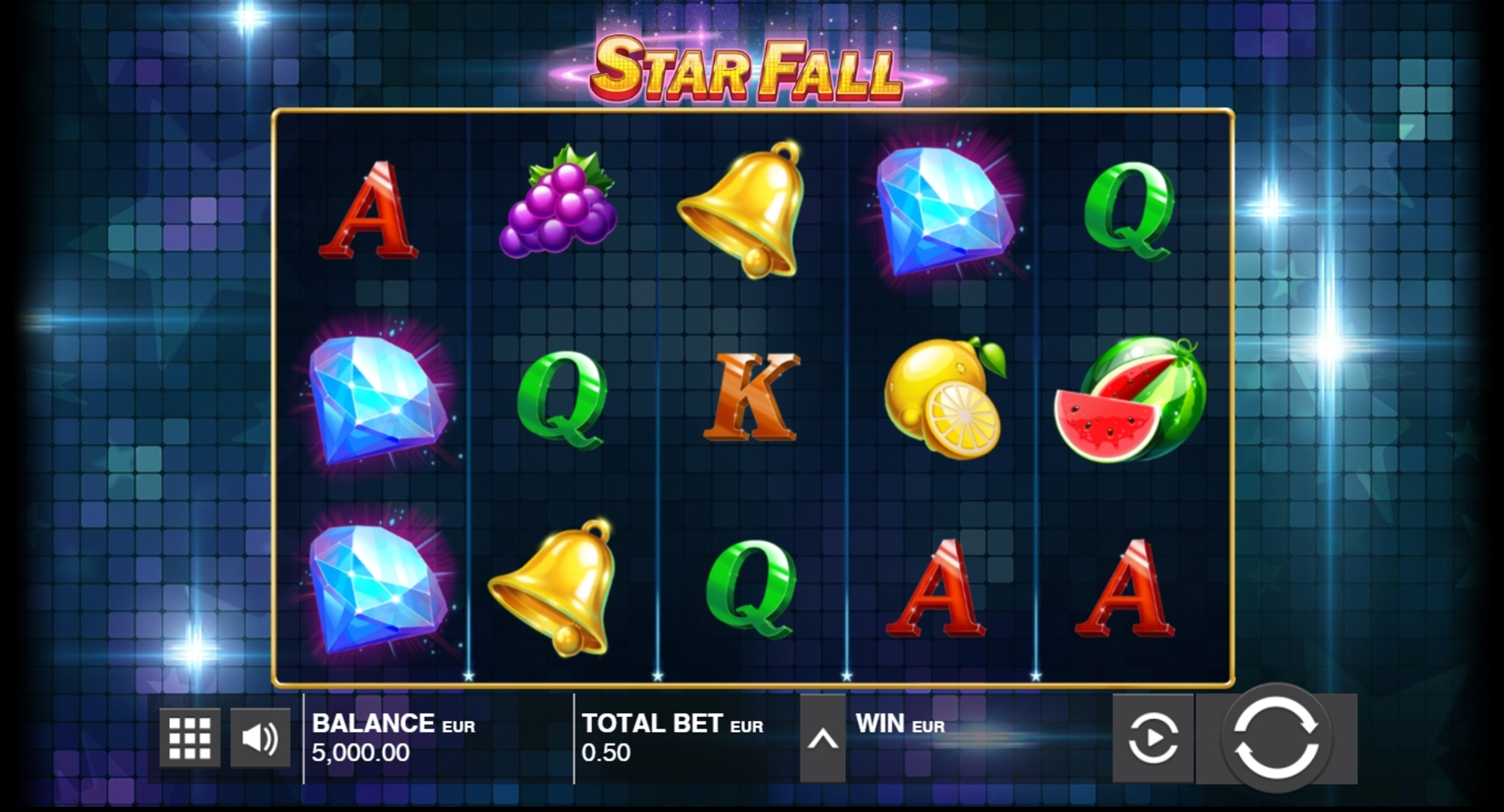 Reels in Star Fall Slot Game by Push Gaming