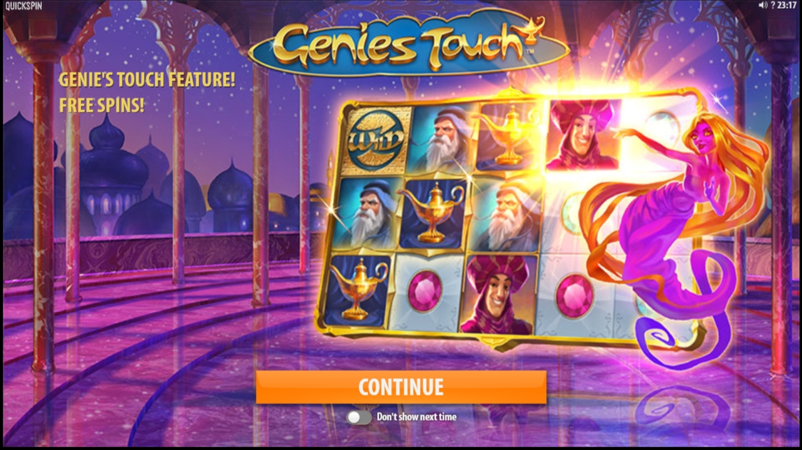 Play Genies Touch Free Casino Slot Game by Quickspin