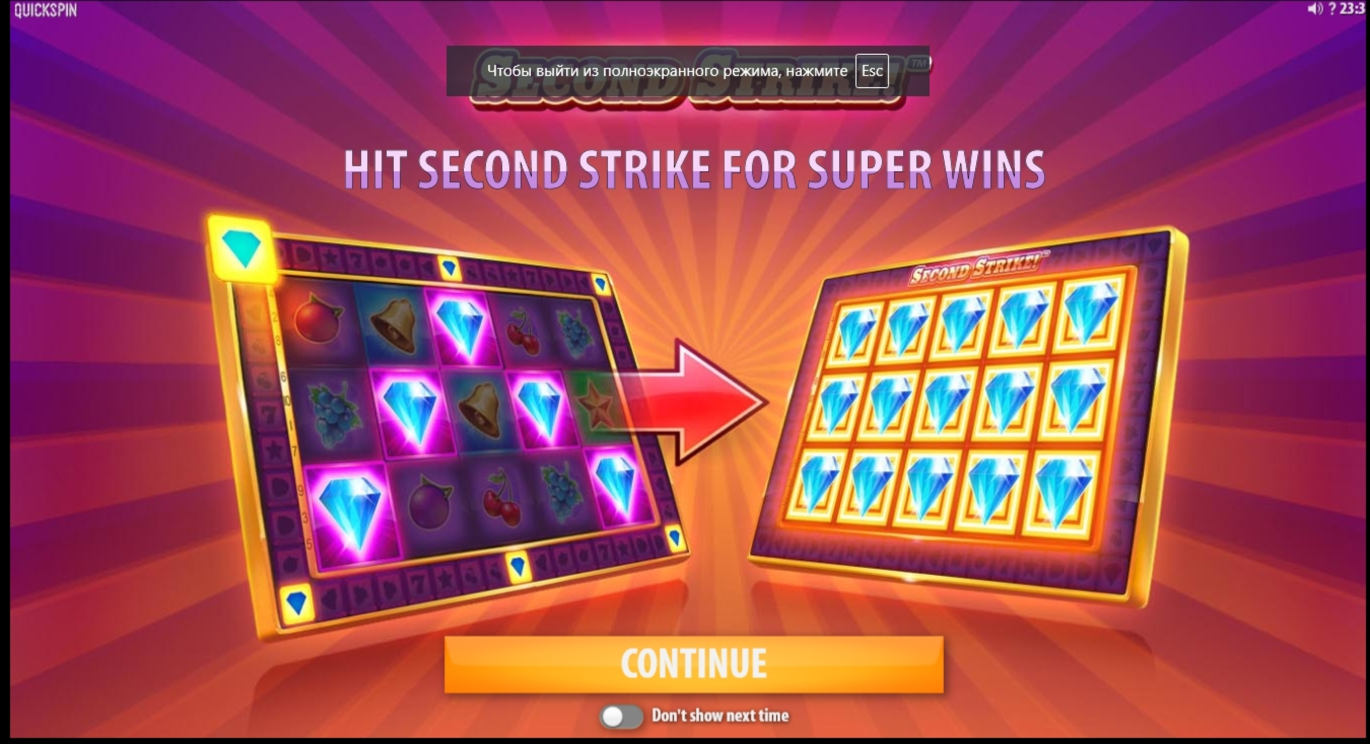 Play Second Strike Free Casino Slot Game by Quickspin