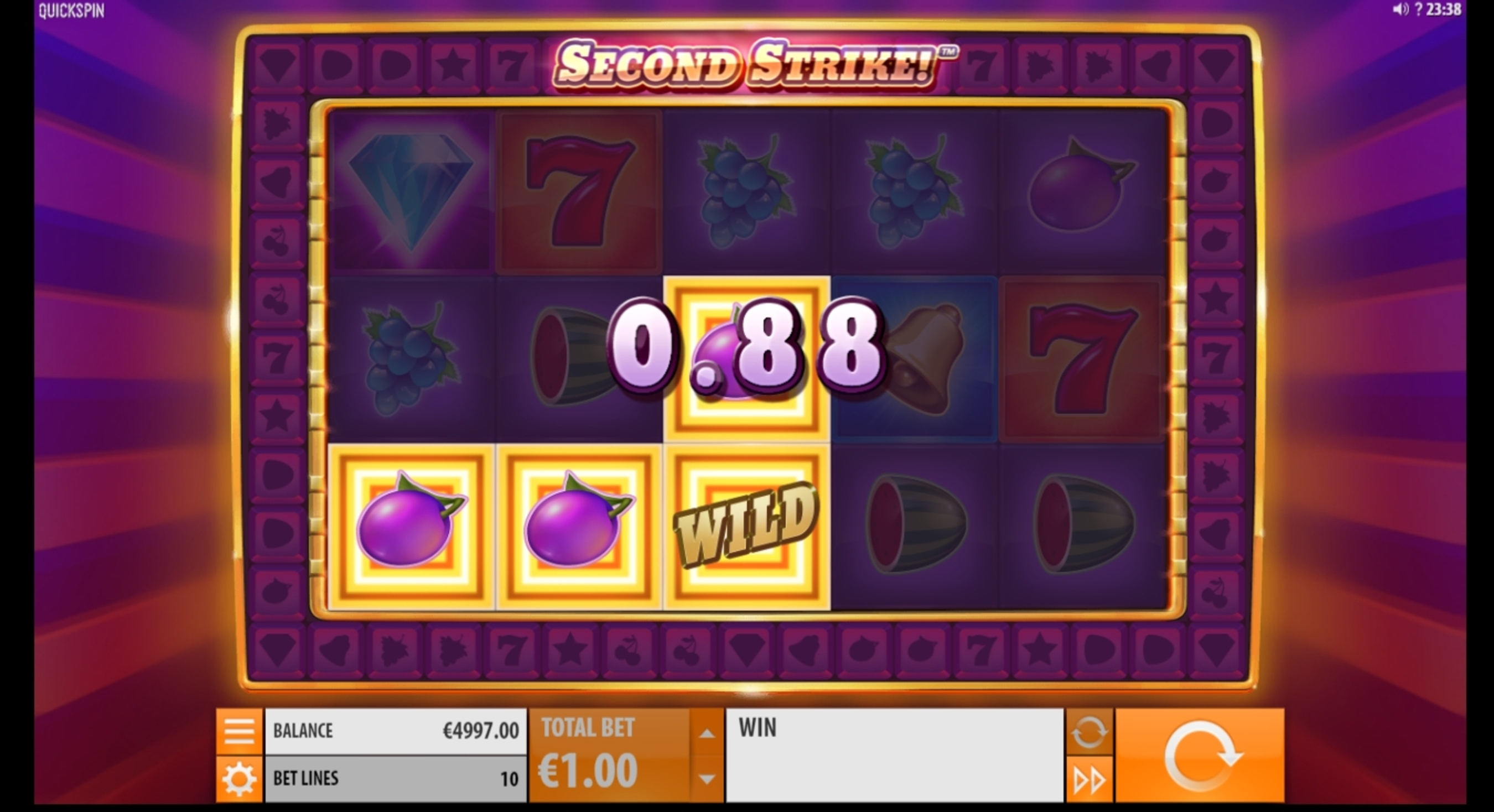 Win Money in Second Strike Free Slot Game by Quickspin