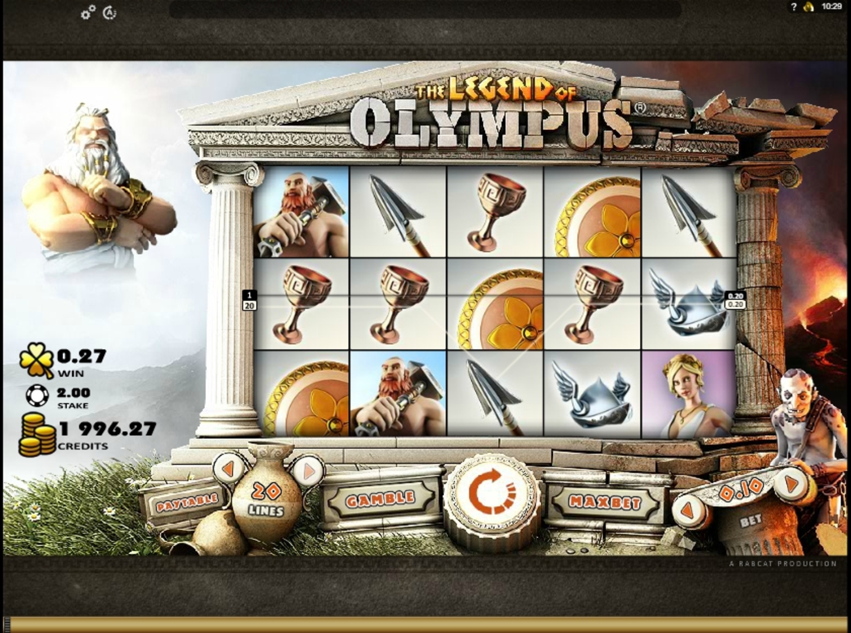 Win Money in Legend of Olympus Free Slot Game by Rabcat