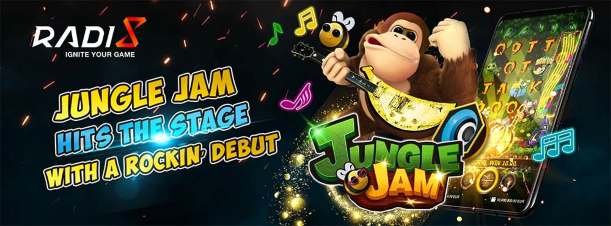 The Jungle Jam Online Slot Demo Game by Radi8