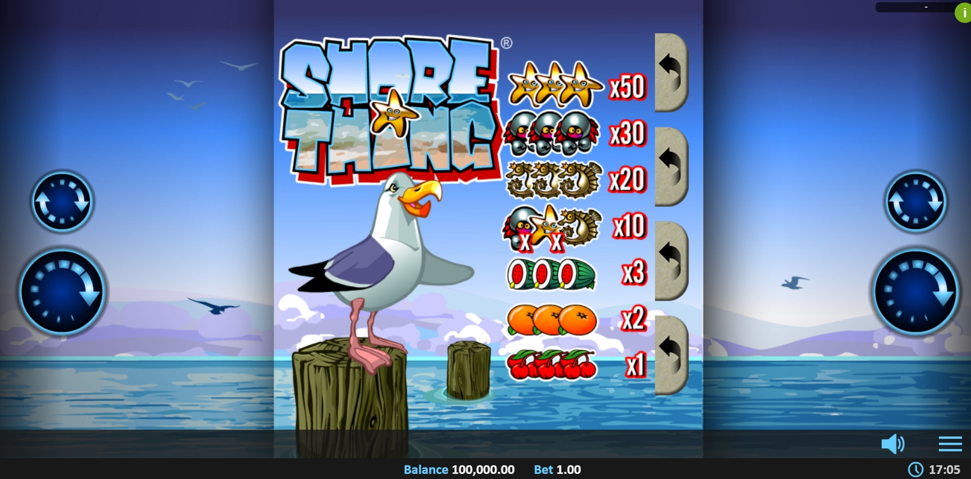 Reels in Shore Thing Pull Tab Slot Game by Realistic Games