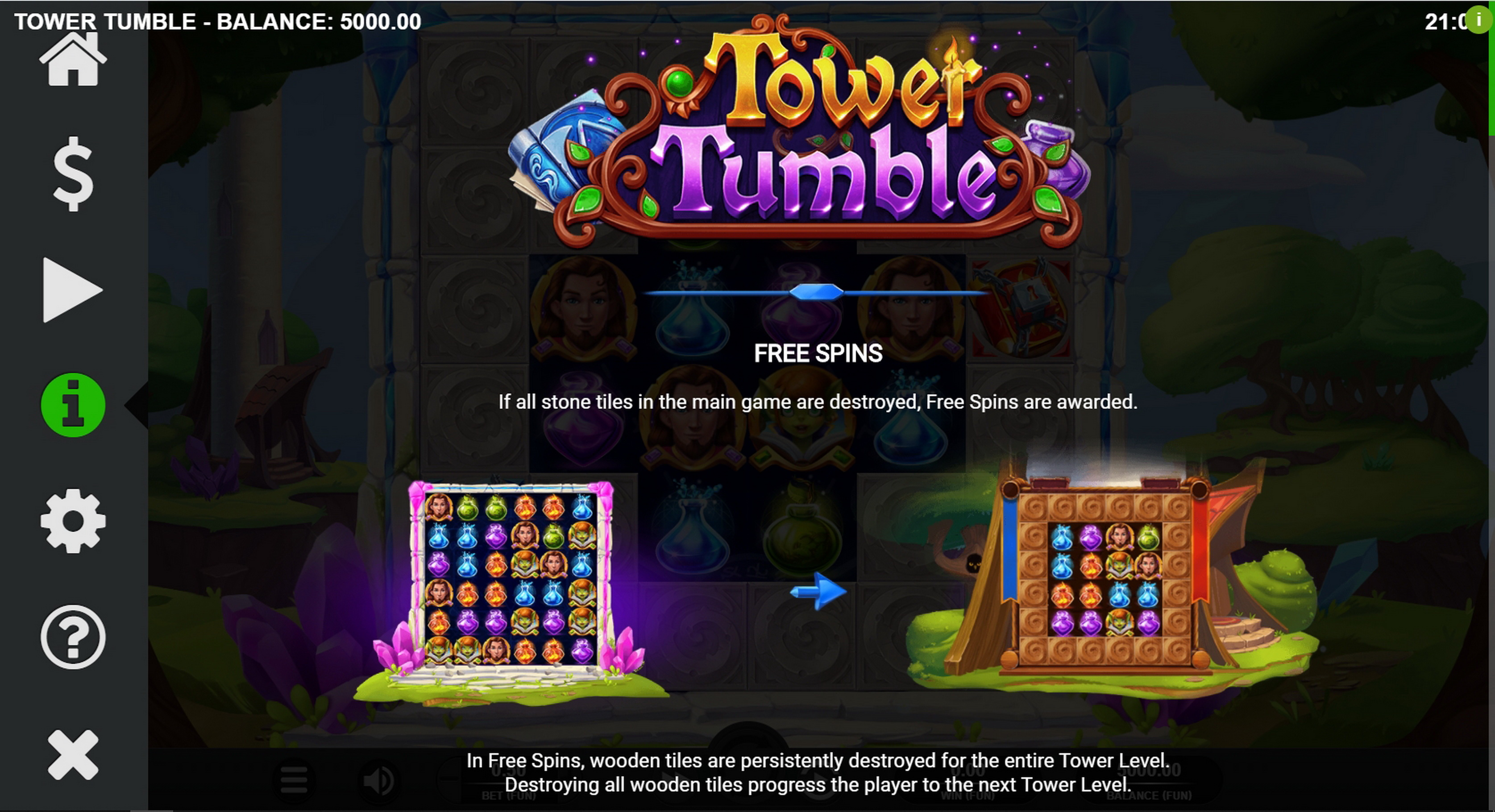 Info of Tower Tumble Slot Game by Relax Gaming