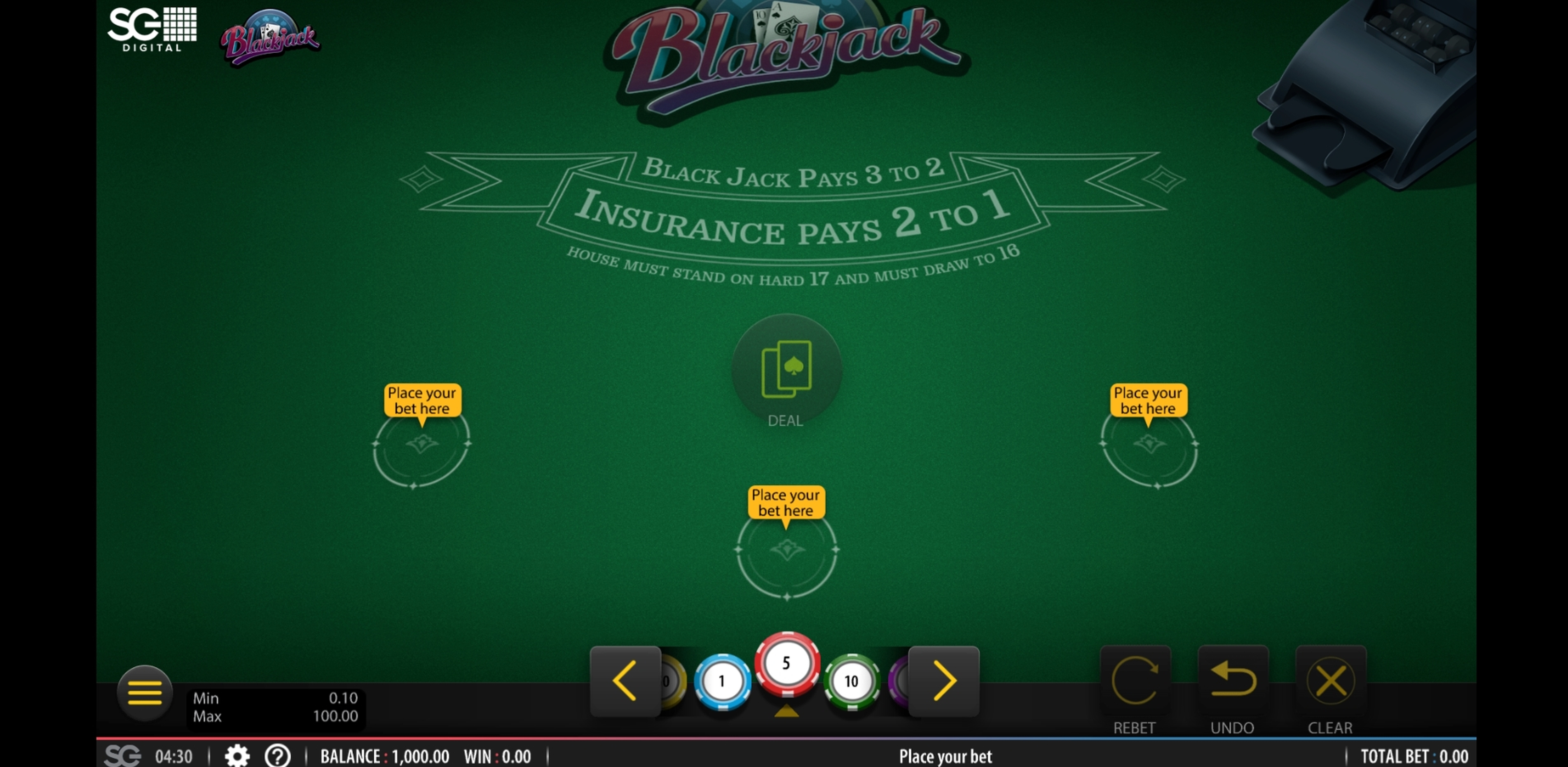 Reels in Blackjack (Shuffle Muster) Slot Game by Shuffle Master