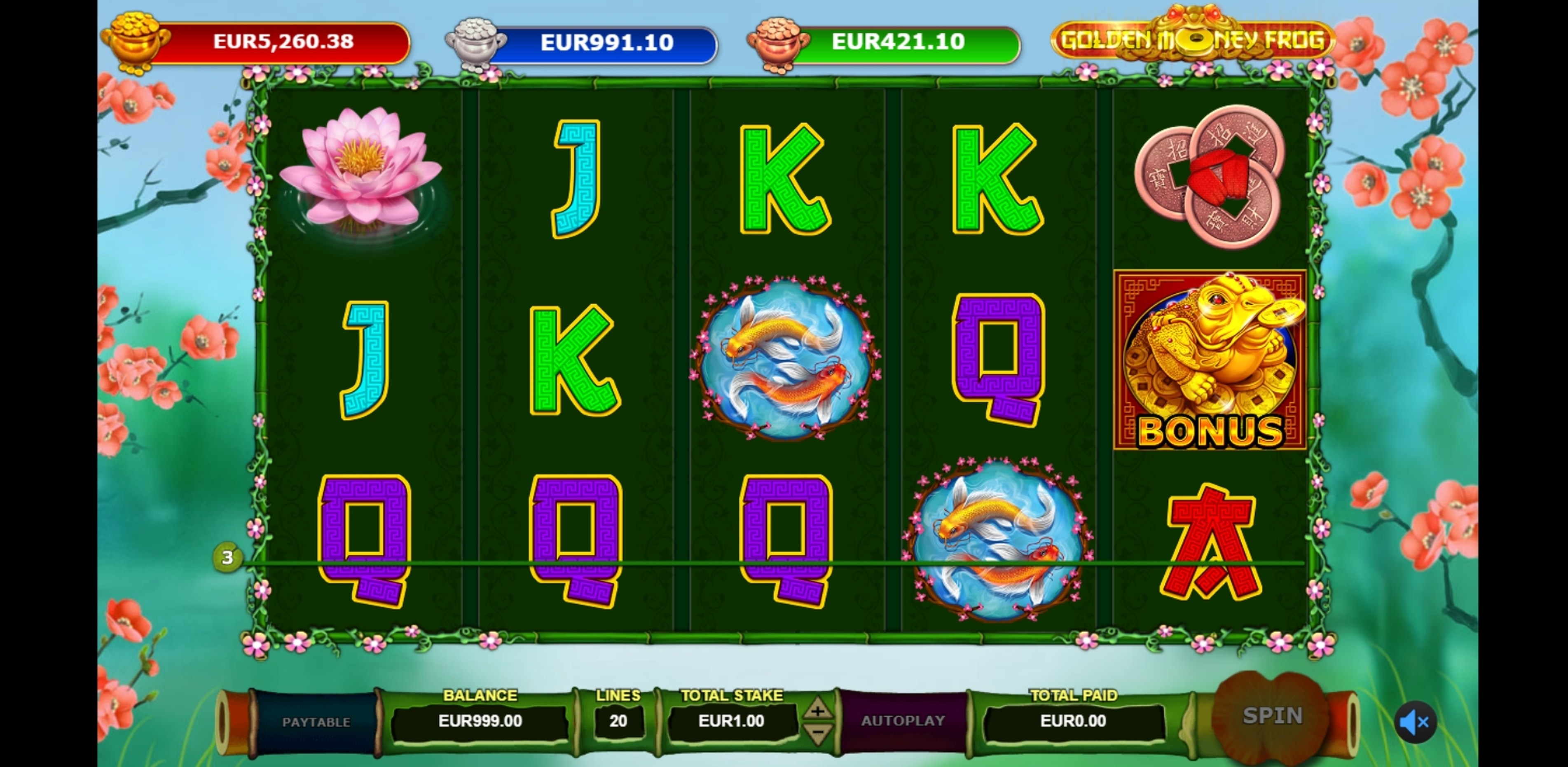 Win Money in Golden Money Frog Free Slot Game by Sigma Gaming