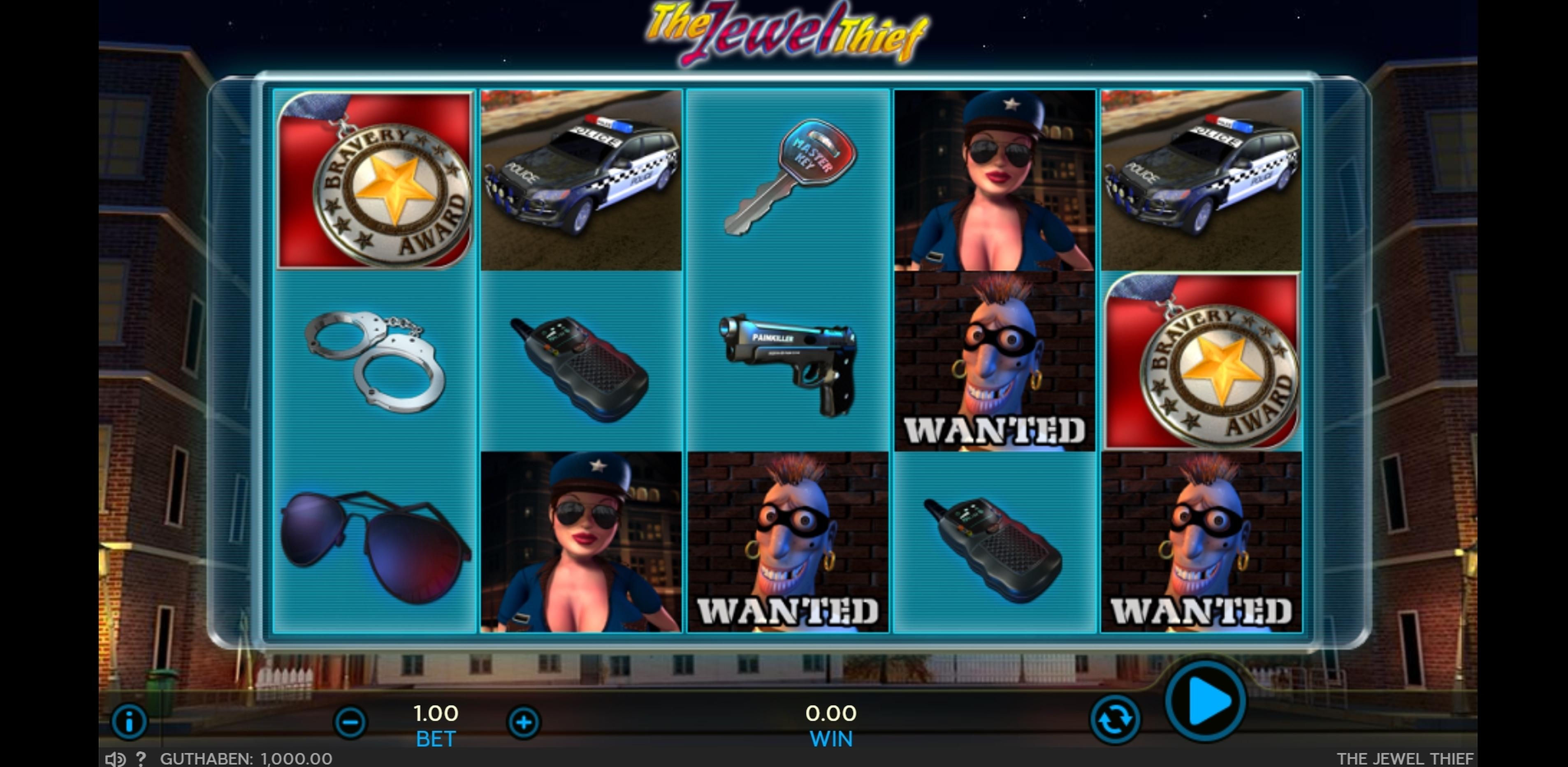 Reels in The Jewel Thief Slot Game by Sigma Gaming
