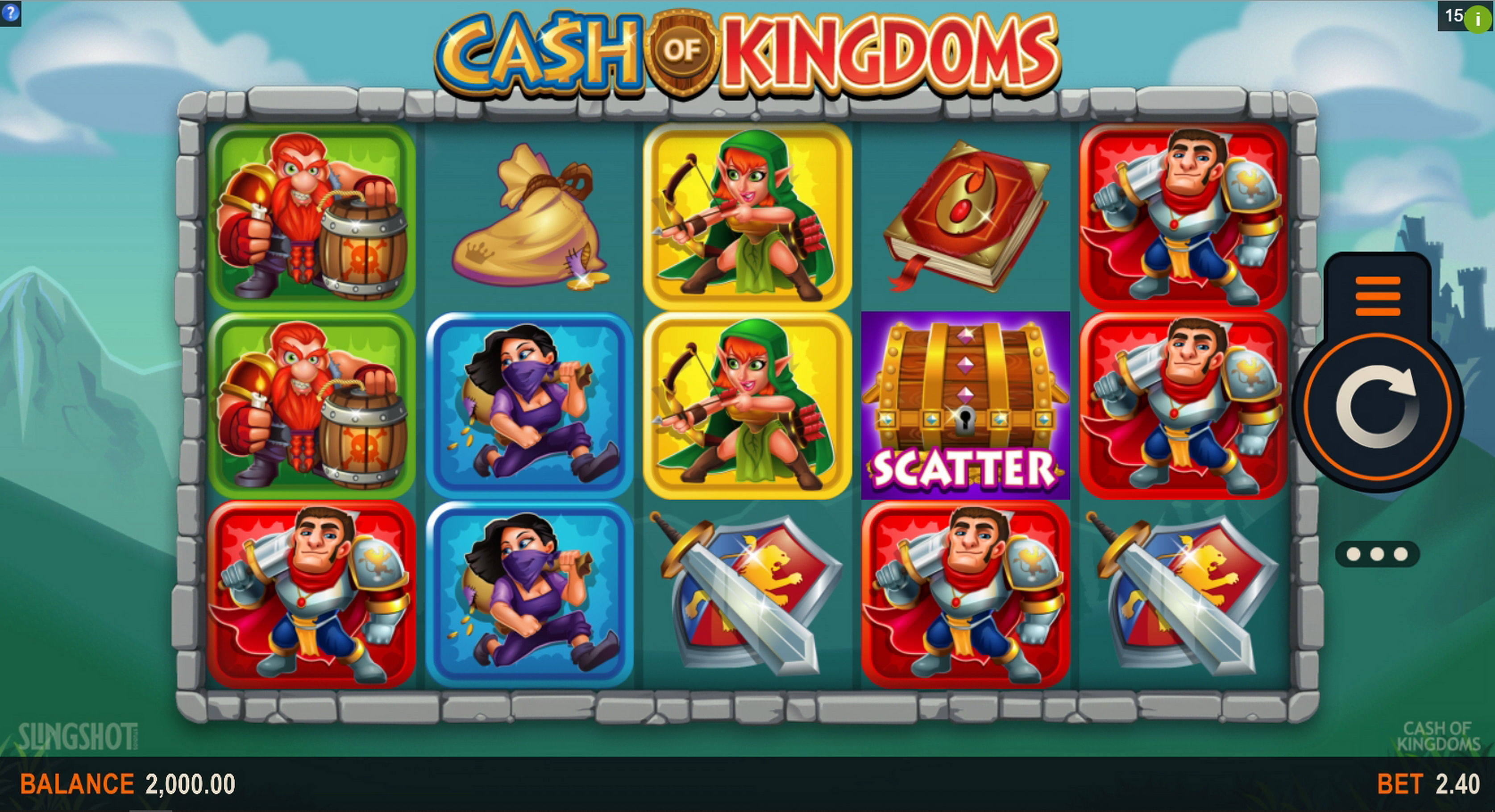 Reels in Cash of Kingdoms Slot Game by Slingshot Studios