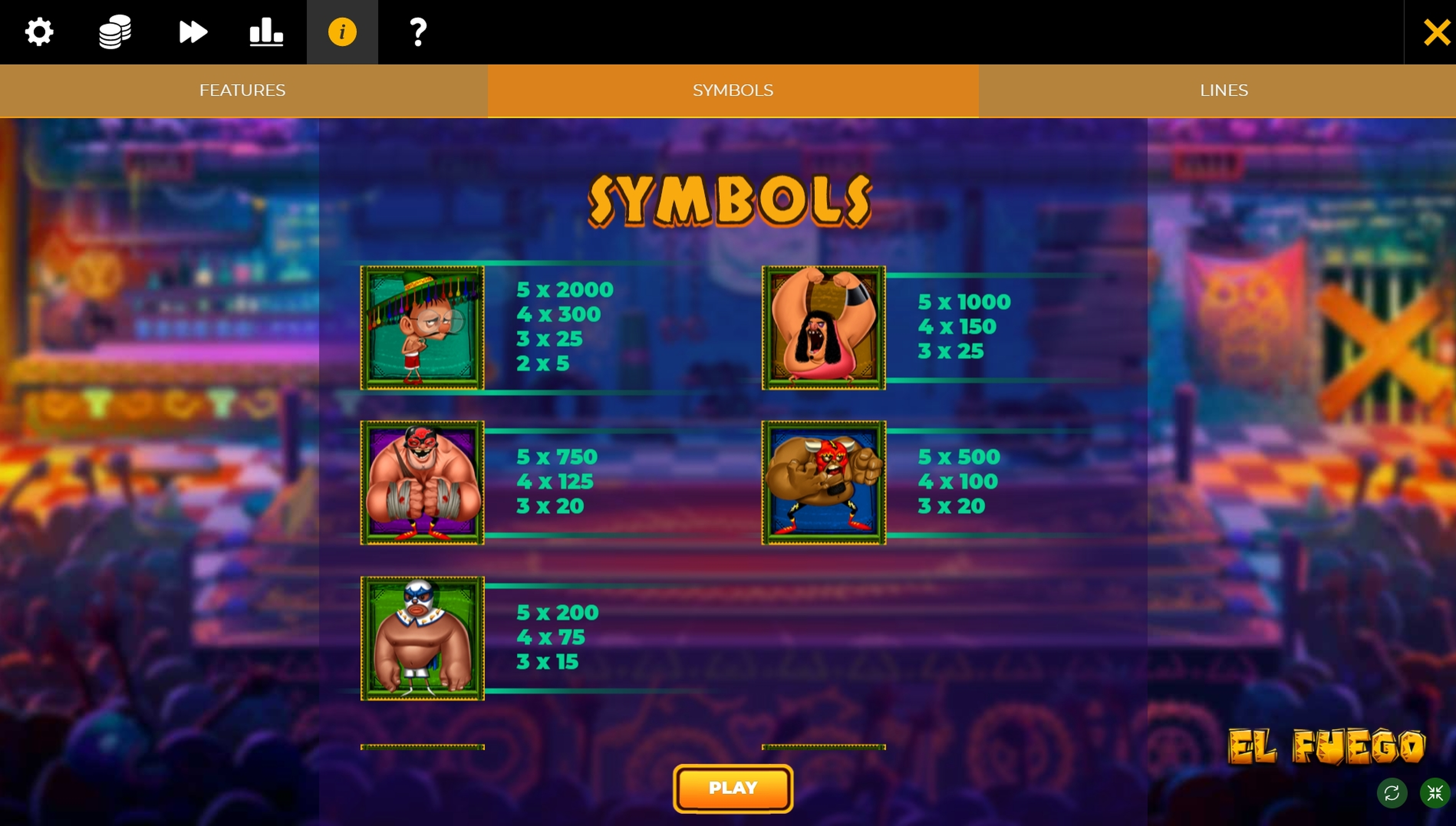 Info of El Fuego Slot Game by Spinmatic