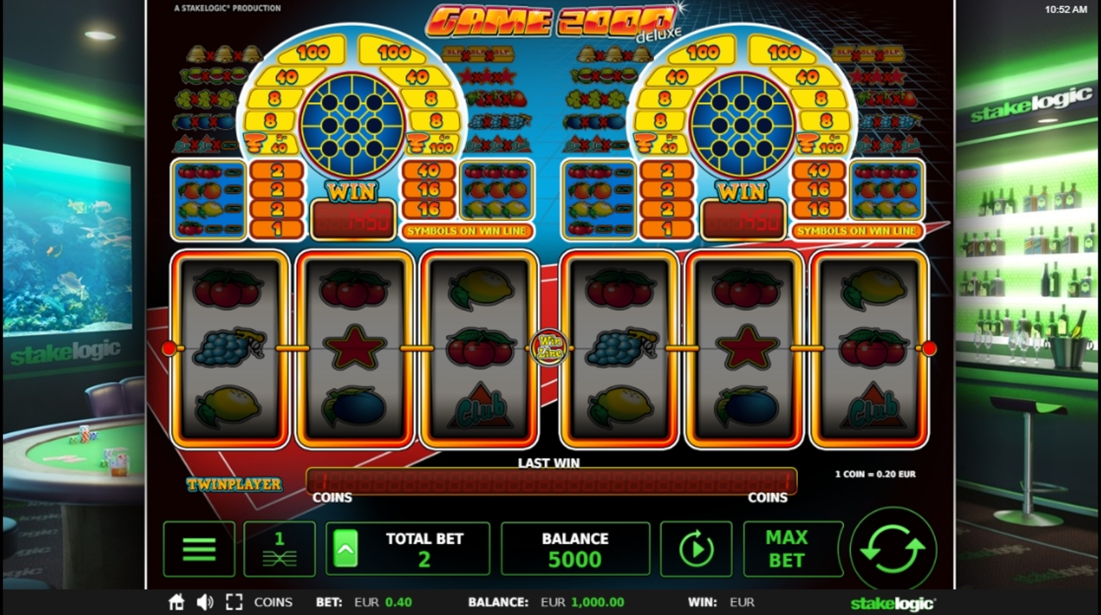 Reels in Game 2000 Slot Game by StakeLogic