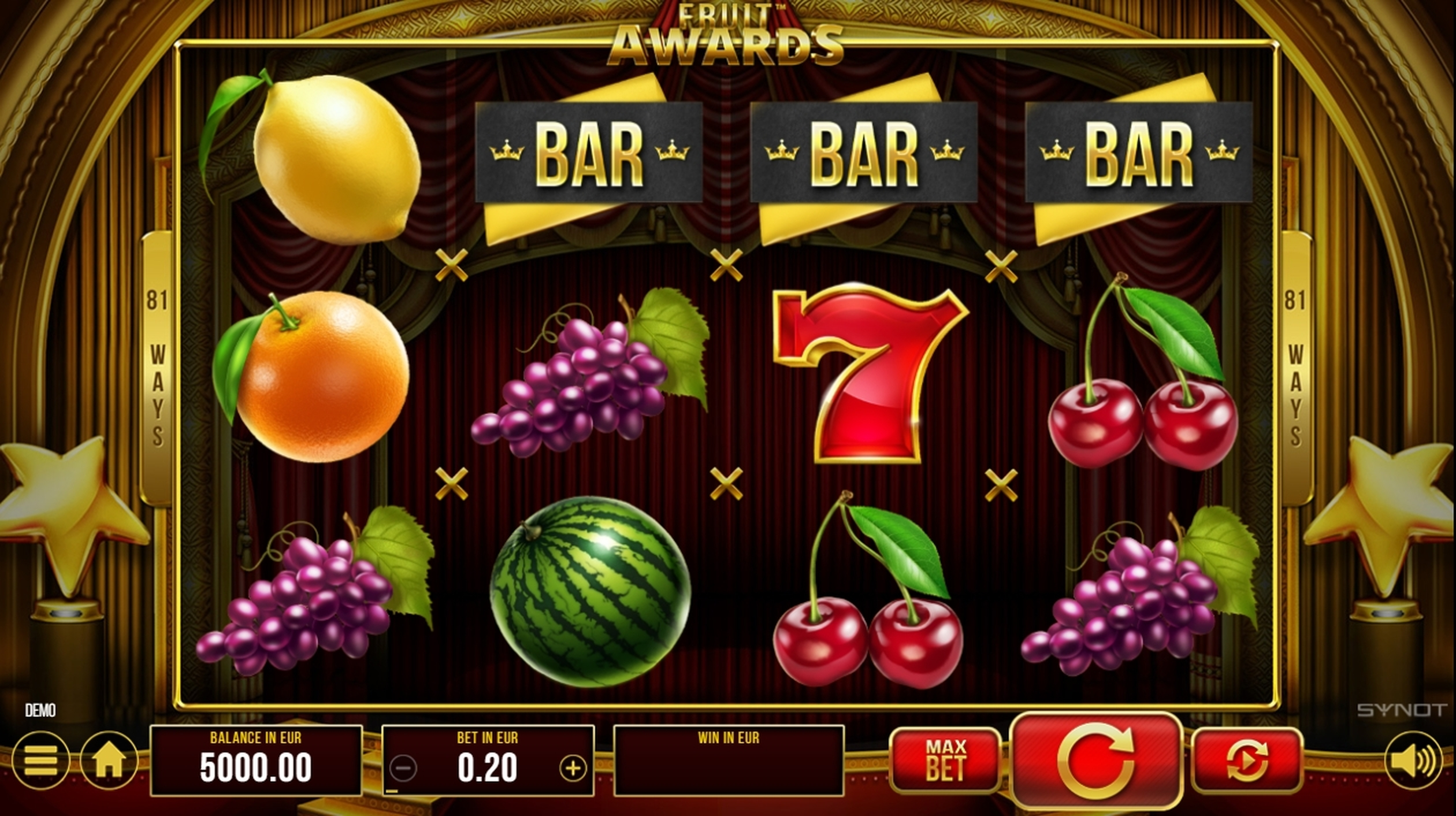 Reels in Fruit Awards Slot Game by Synot Games