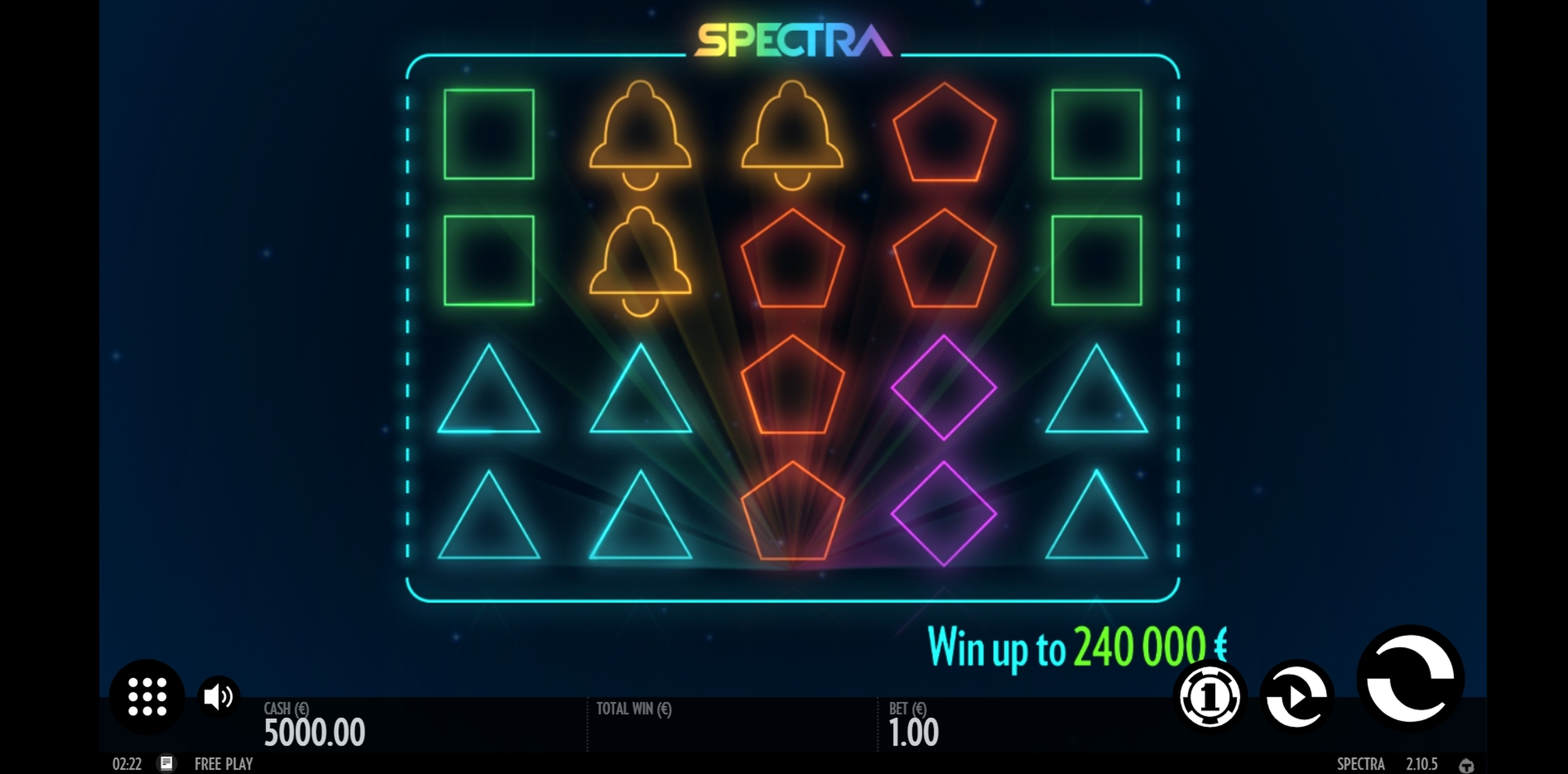 Reels in Spectra Slot Game by Thunderkick