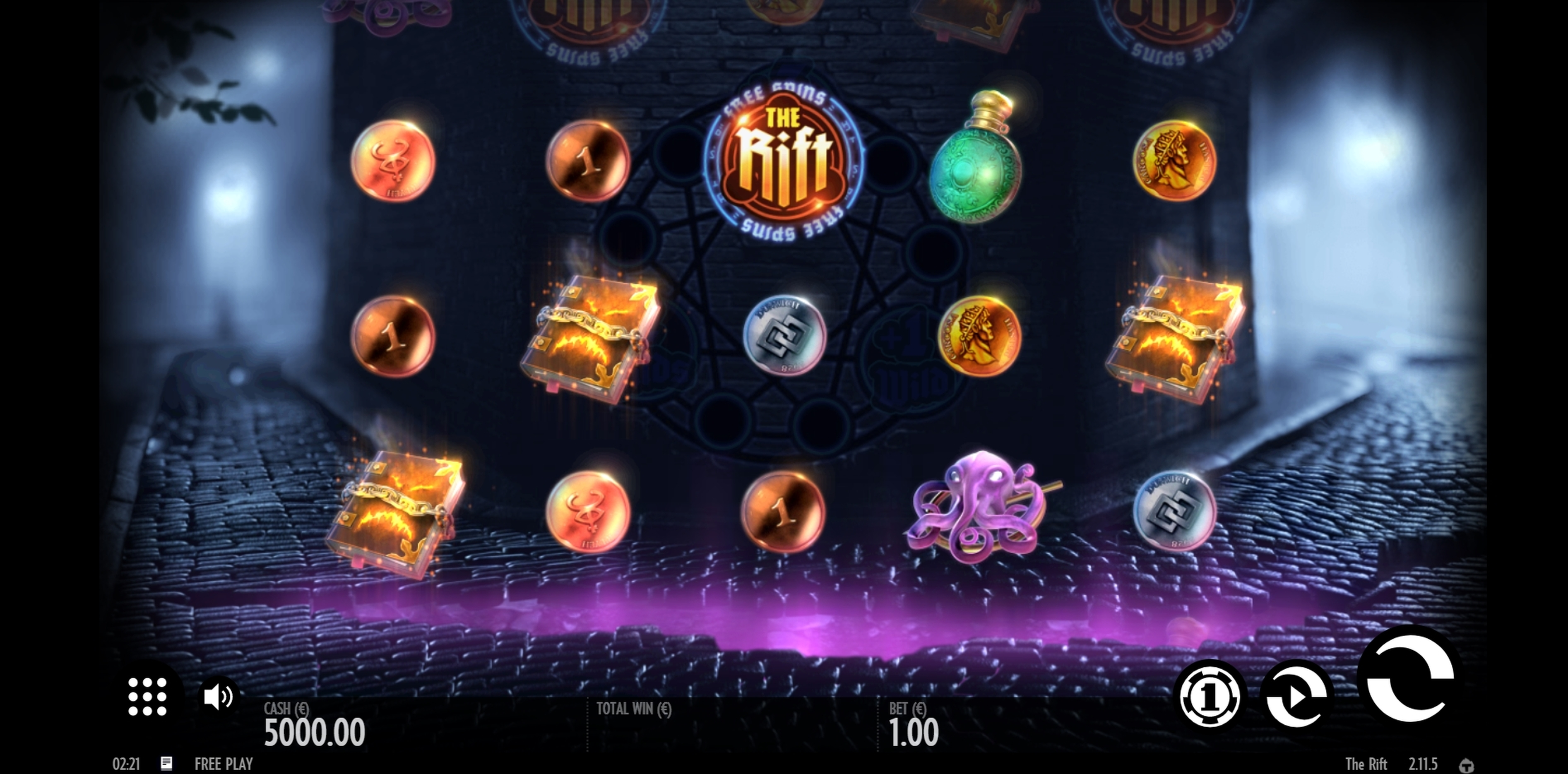 Reels in The Rift Slot Game by Thunderkick