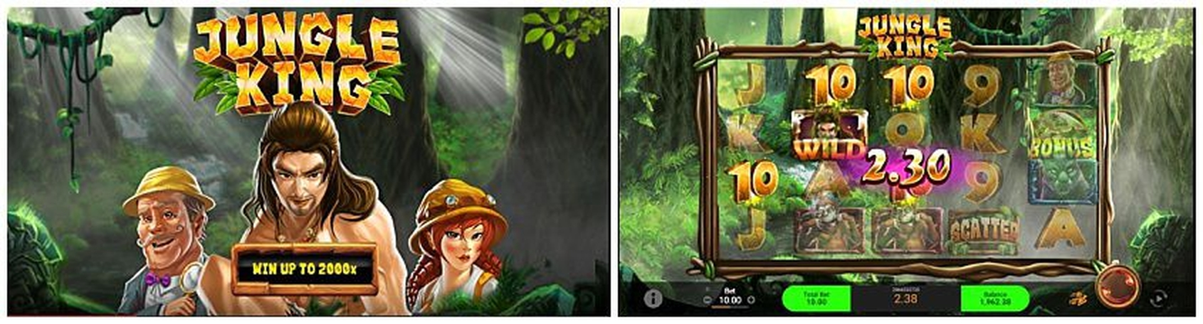 The Jungle King (Wager Gaming) Online Slot Demo Game by Wager Gaming
