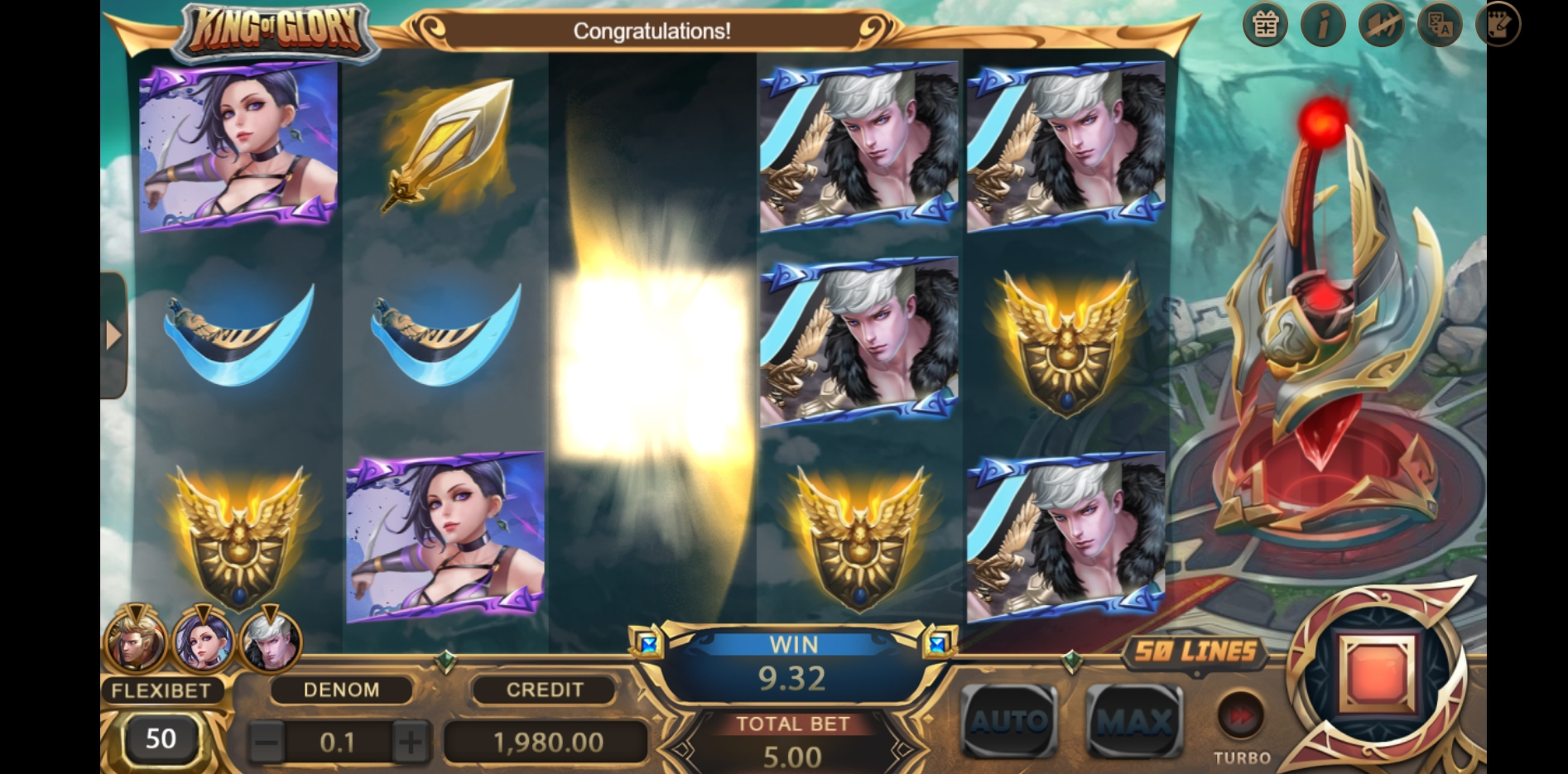 Win Money in King of Glory Free Slot Game by XIN Gaming