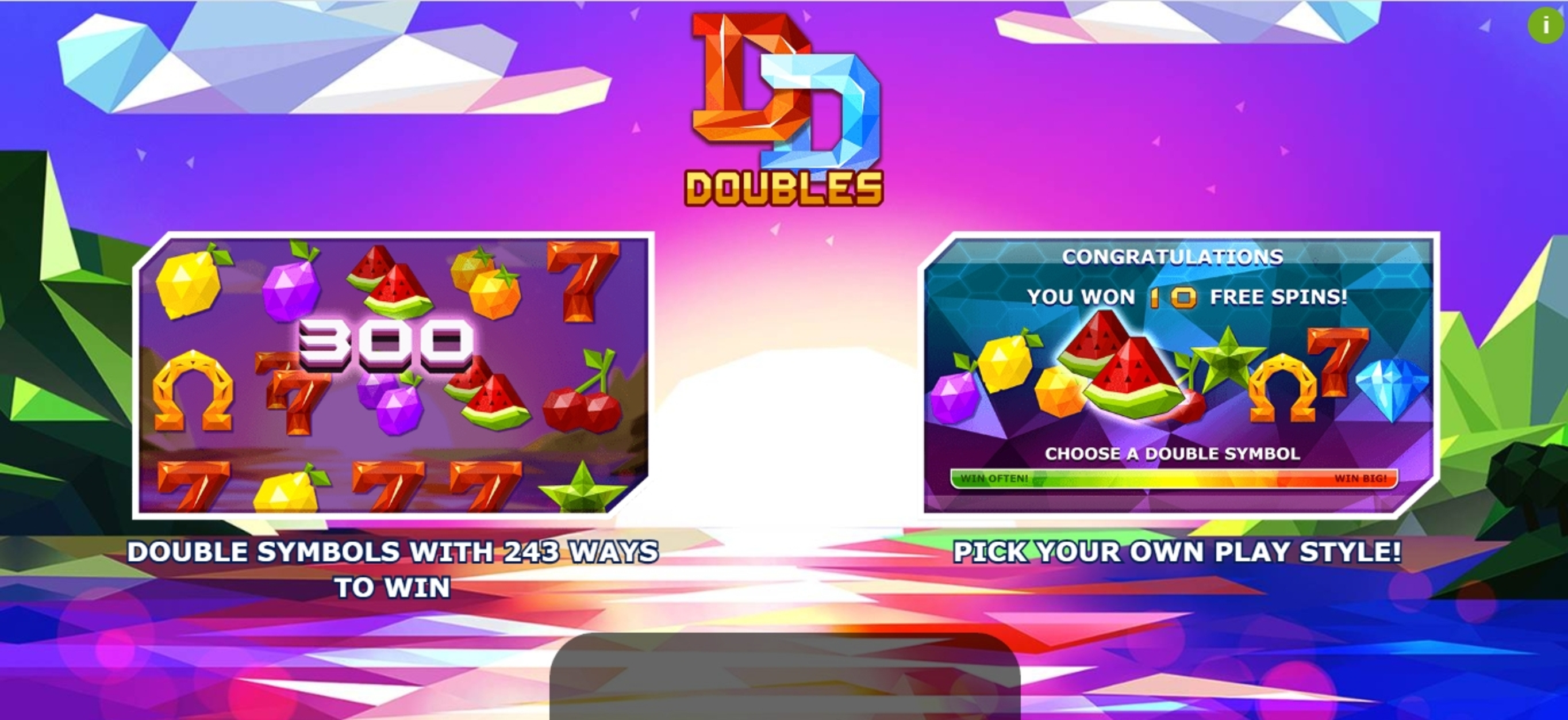 Play Doubles Free Casino Slot Game by Yggdrasil