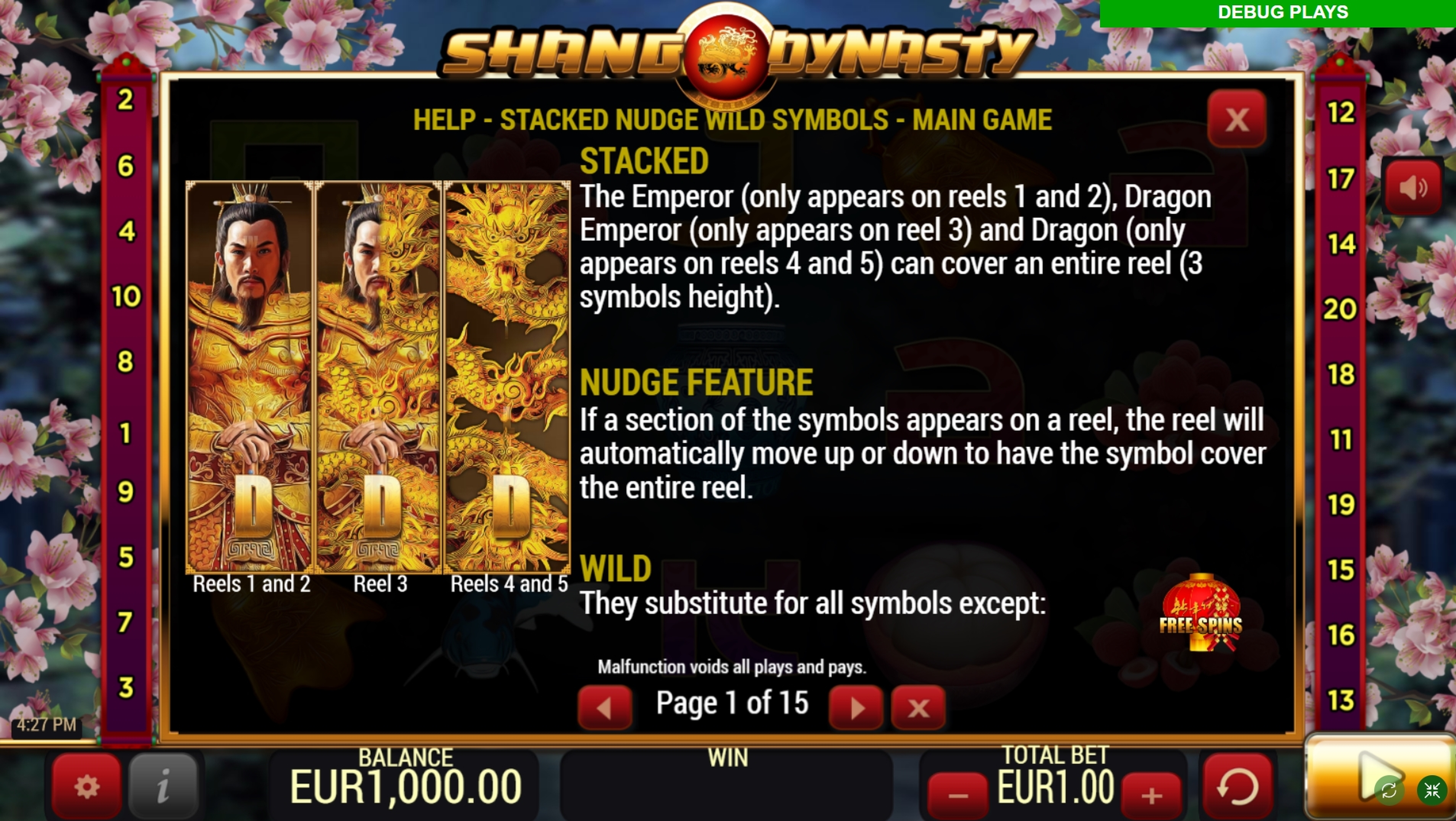 Info of Shang Dynasty Slot Game by YoloPlay