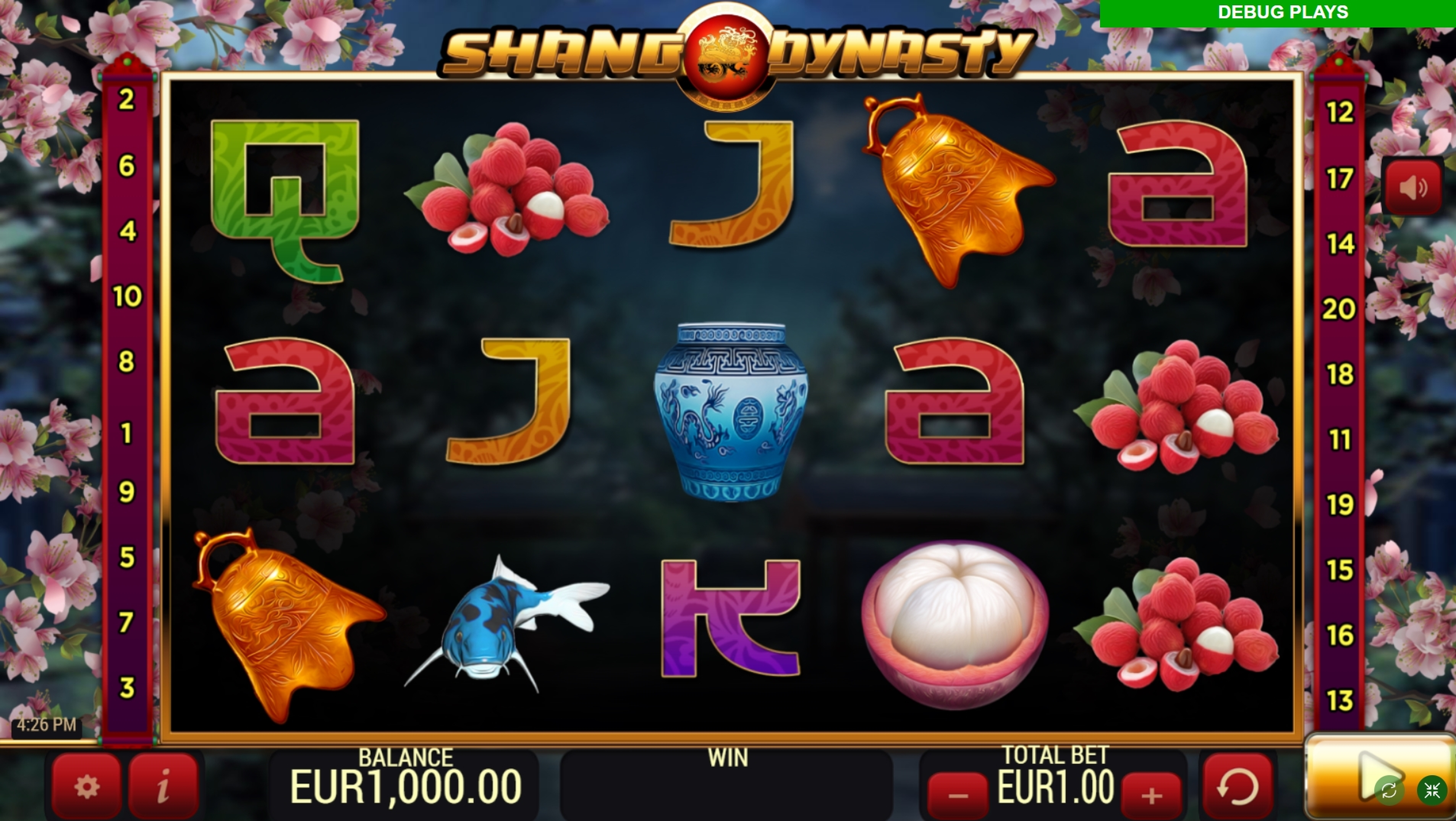 Reels in Shang Dynasty Slot Game by YoloPlay