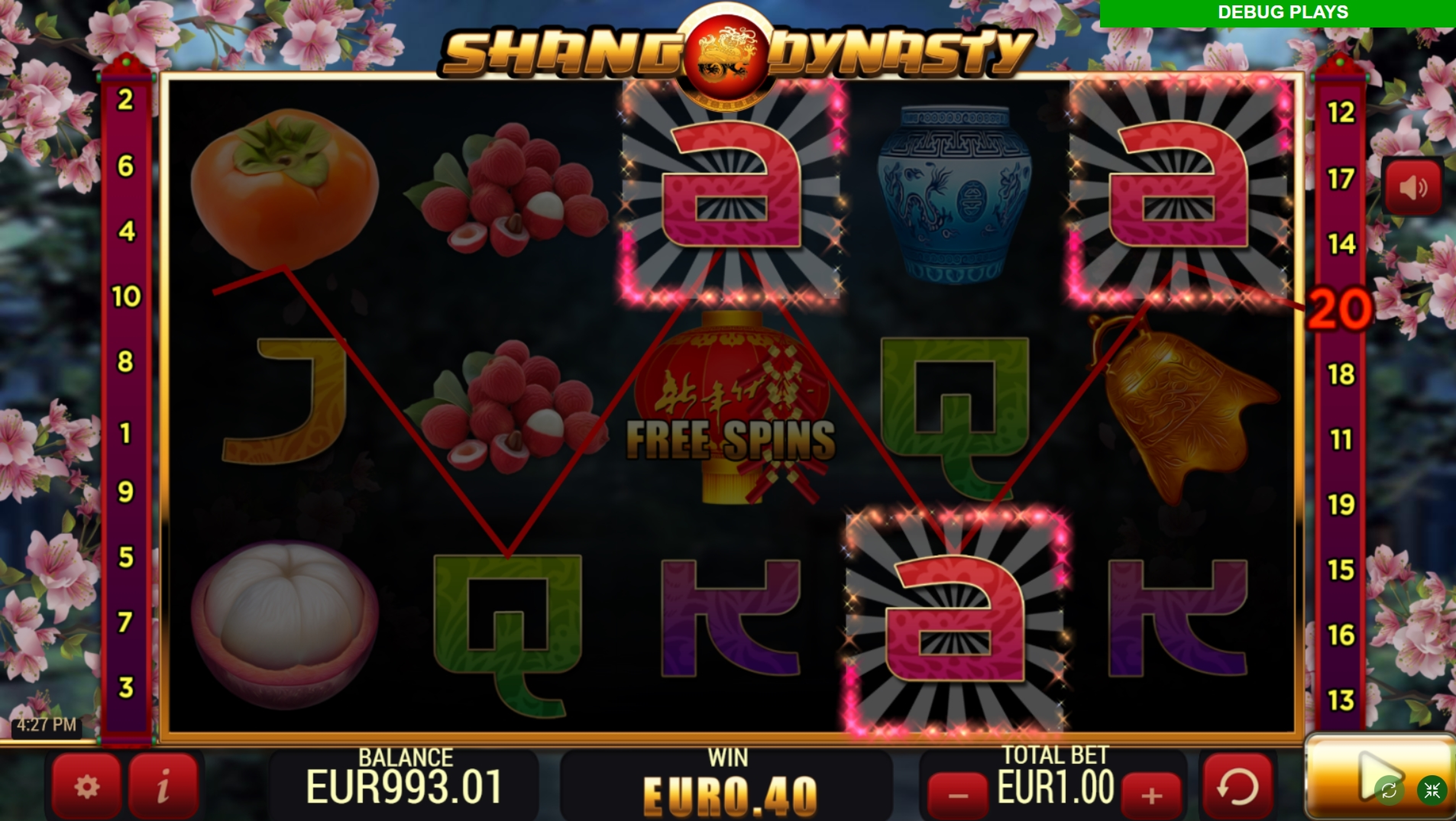 Win Money in Shang Dynasty Free Slot Game by YoloPlay